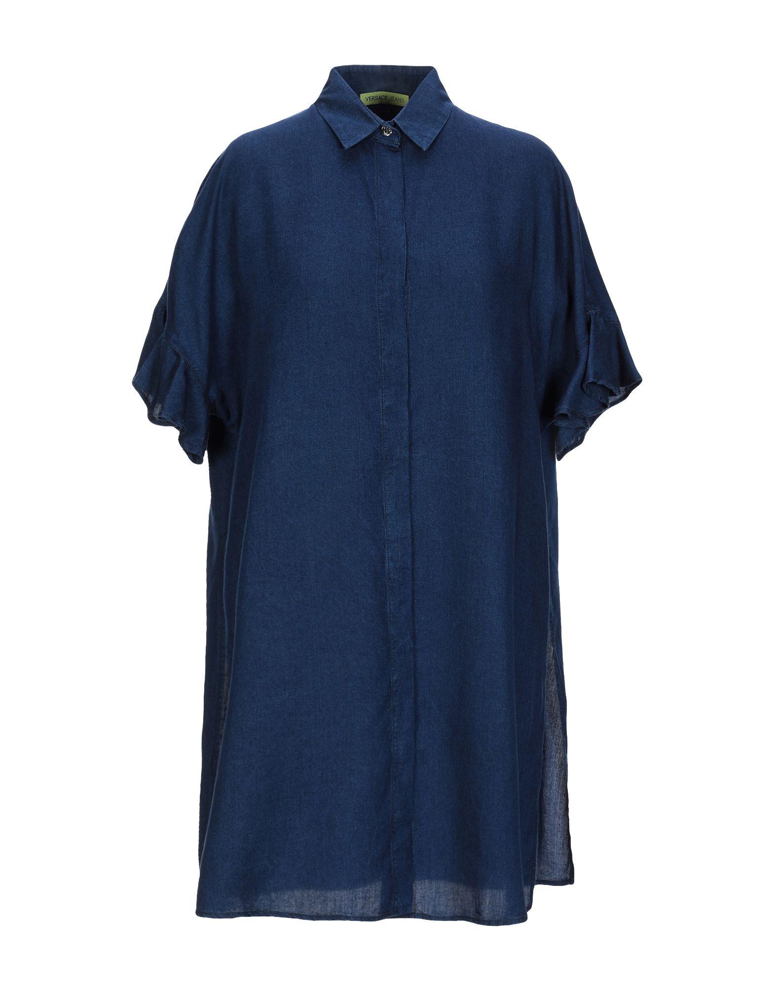 VERSACE JEANS Джинсовая рубашка garcia jeans джинсовая рубашка
