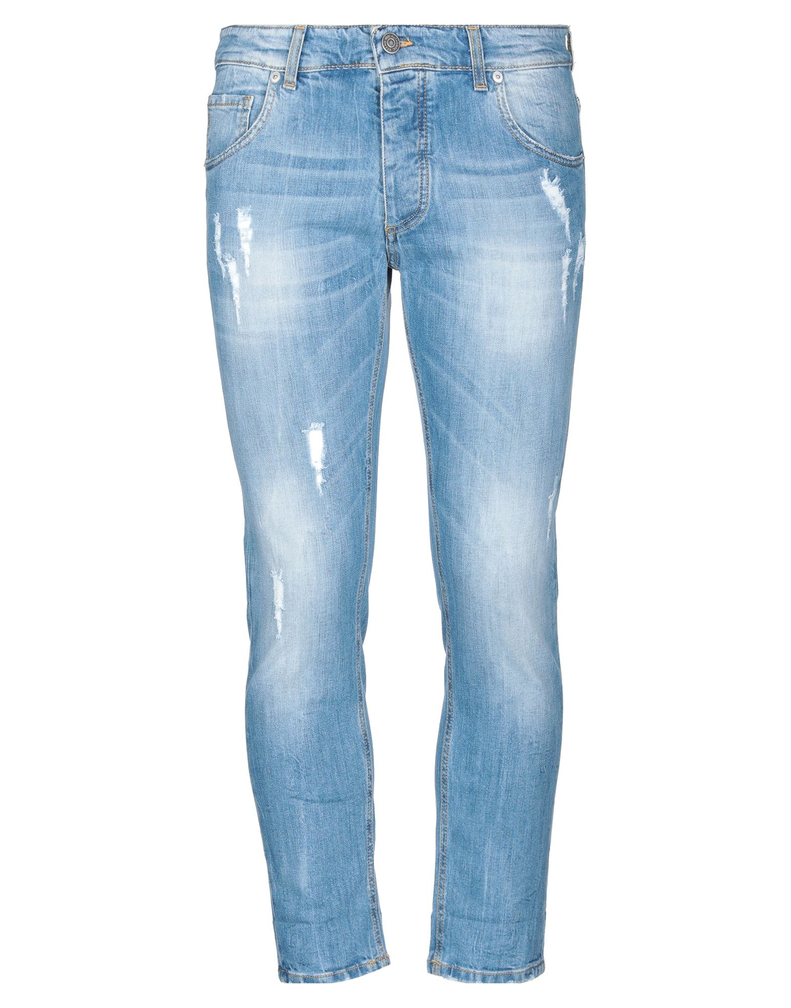 《セール開催中》V2? LIVING CLOTHING メンズ ジーンズ ブルー 30 コットン 97% / ポリウレタン 3%