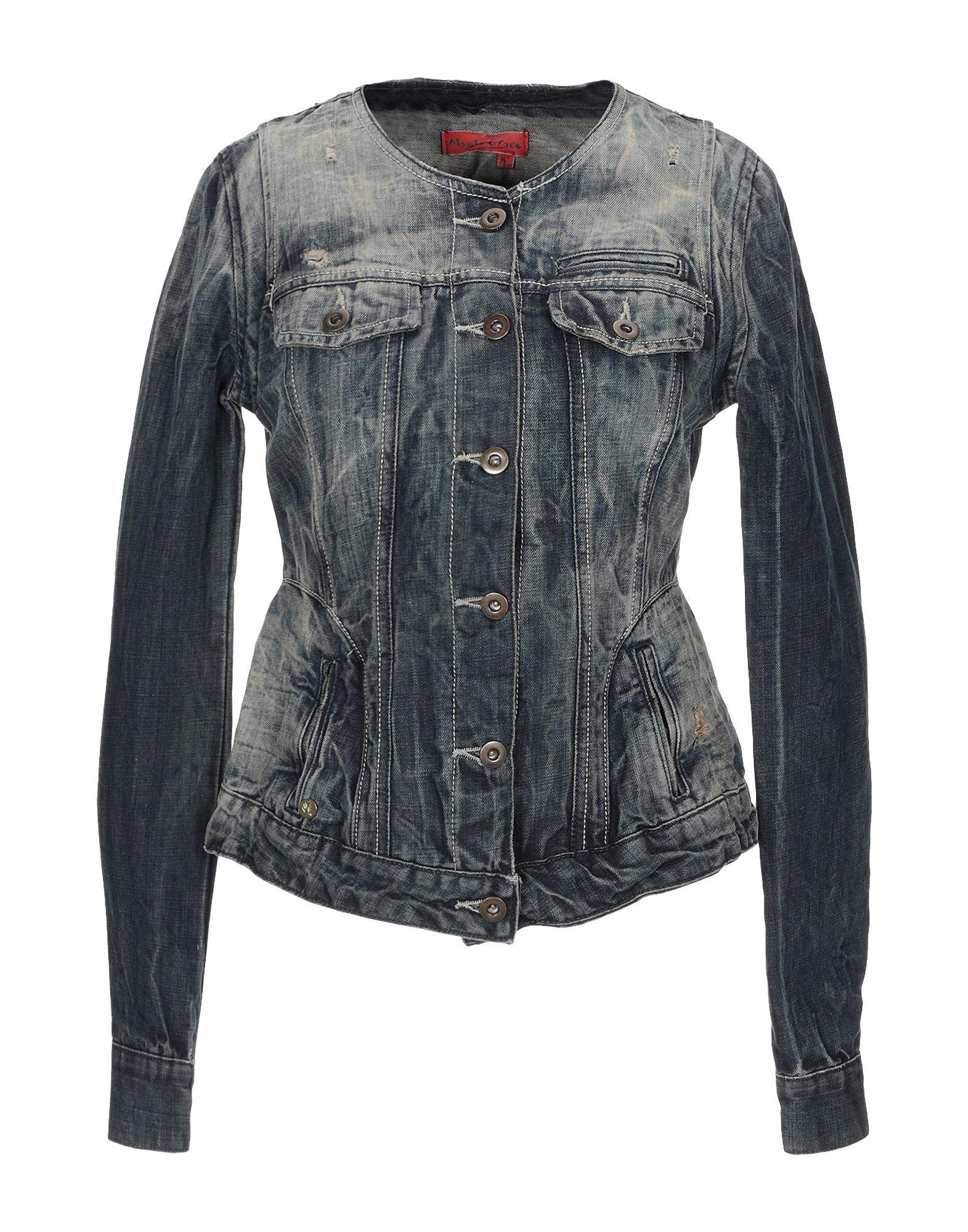 MANILA GRACE DENIM Джинсовая верхняя одежда manila grace джинсовая верхняя одежда