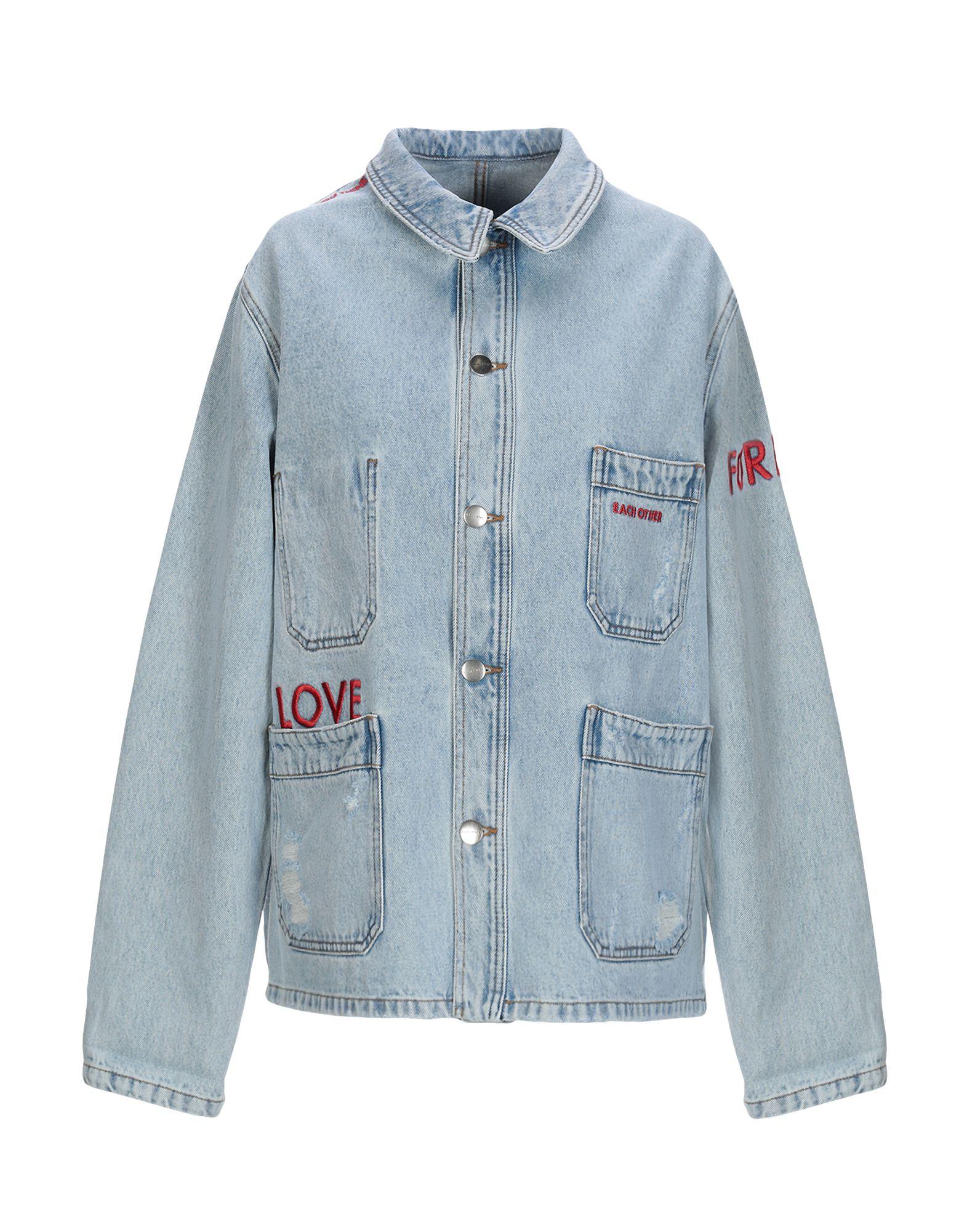 EACH X OTHER Джинсовая верхняя одежда недорго, оригинальная цена