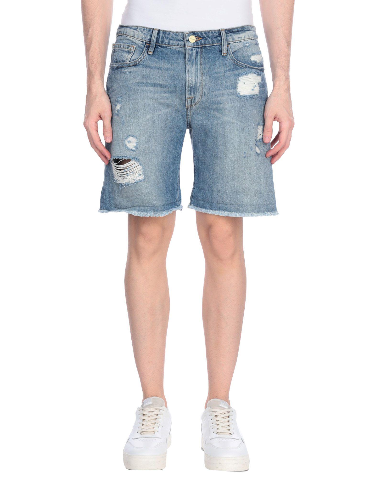 《期間限定セール中》FRAME メンズ デニムバミューダパンツ ブルー 28 コットン 100%