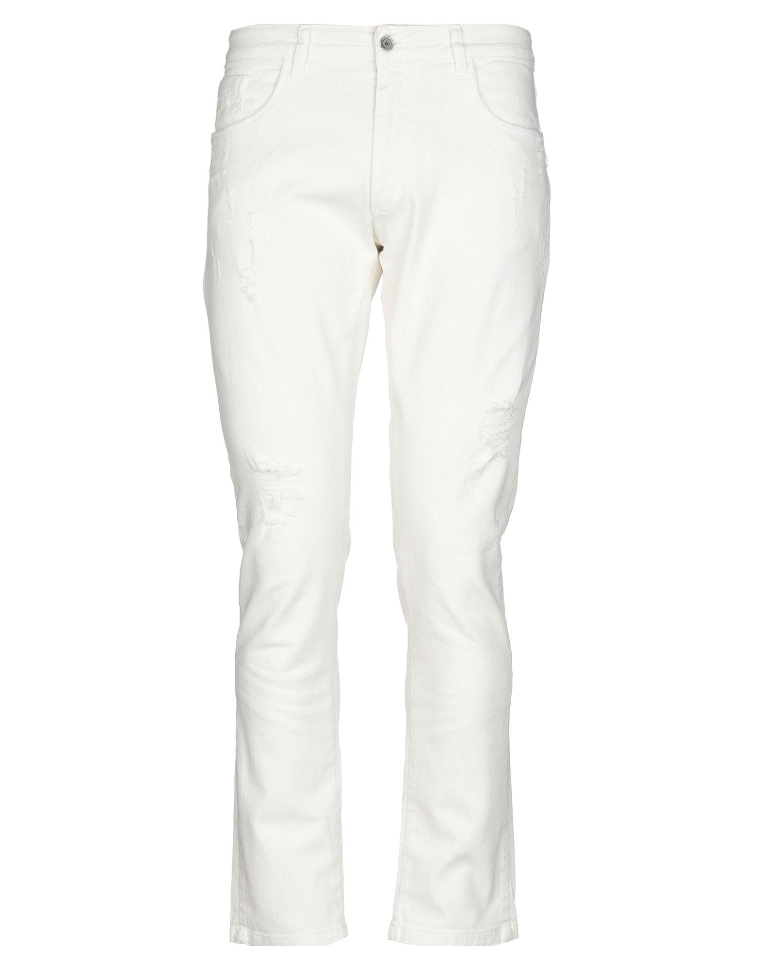 《セール開催中》V2? LIVING CLOTHING メンズ ジーンズ アイボリー 46 コットン 98% / ポリウレタン 2%