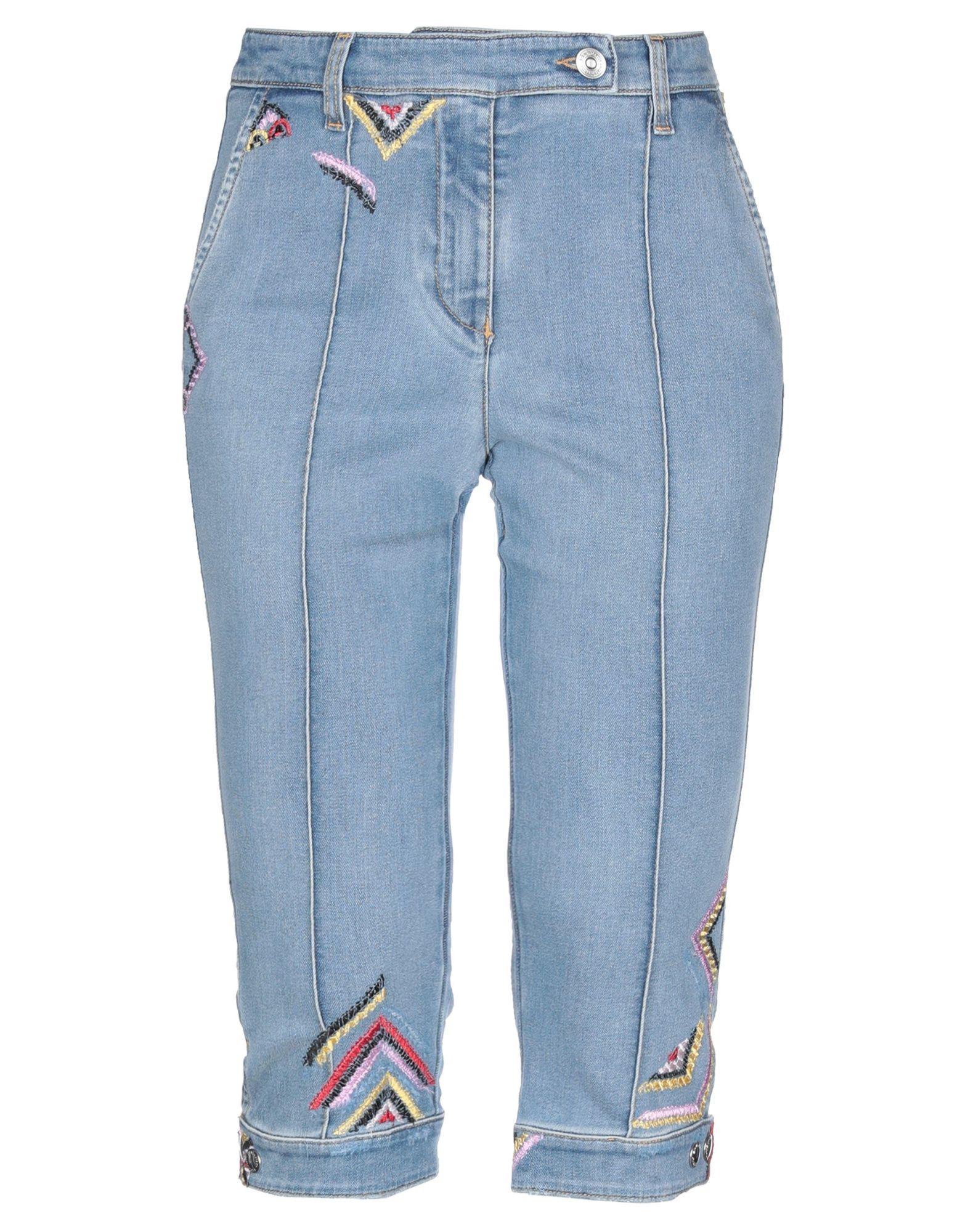 ERMANNO SCERVINO Джинсовые брюки-капри цена 2017