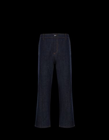 Moncler Trousers Man: DENIM
