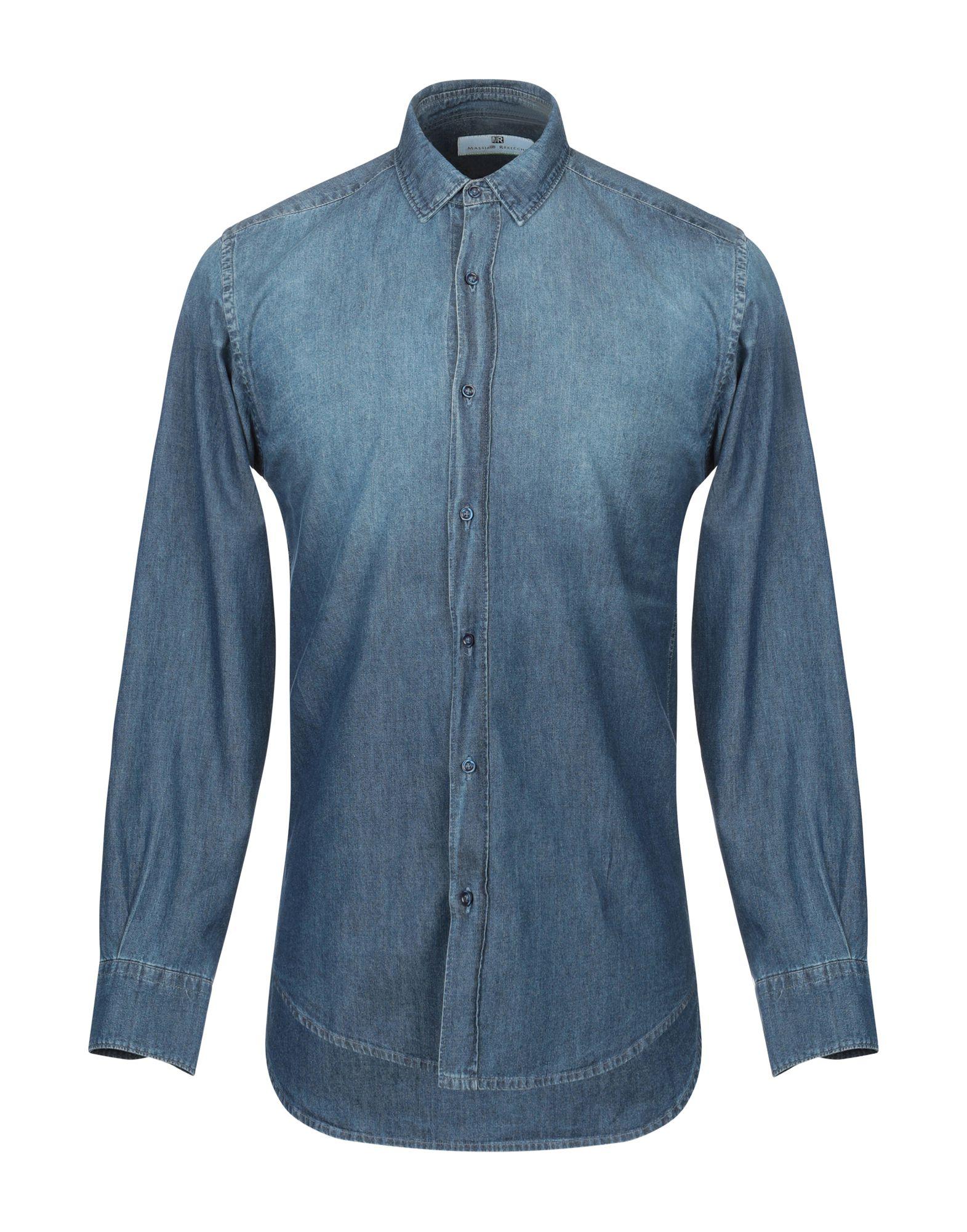 MASSIMO REBECCHI Джинсовая рубашка недорго, оригинальная цена