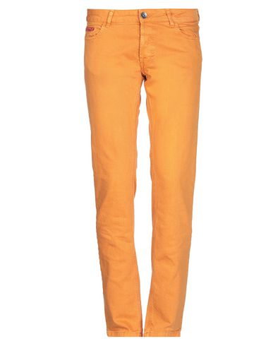 Купить Джинсовые брюки оранжевого цвета