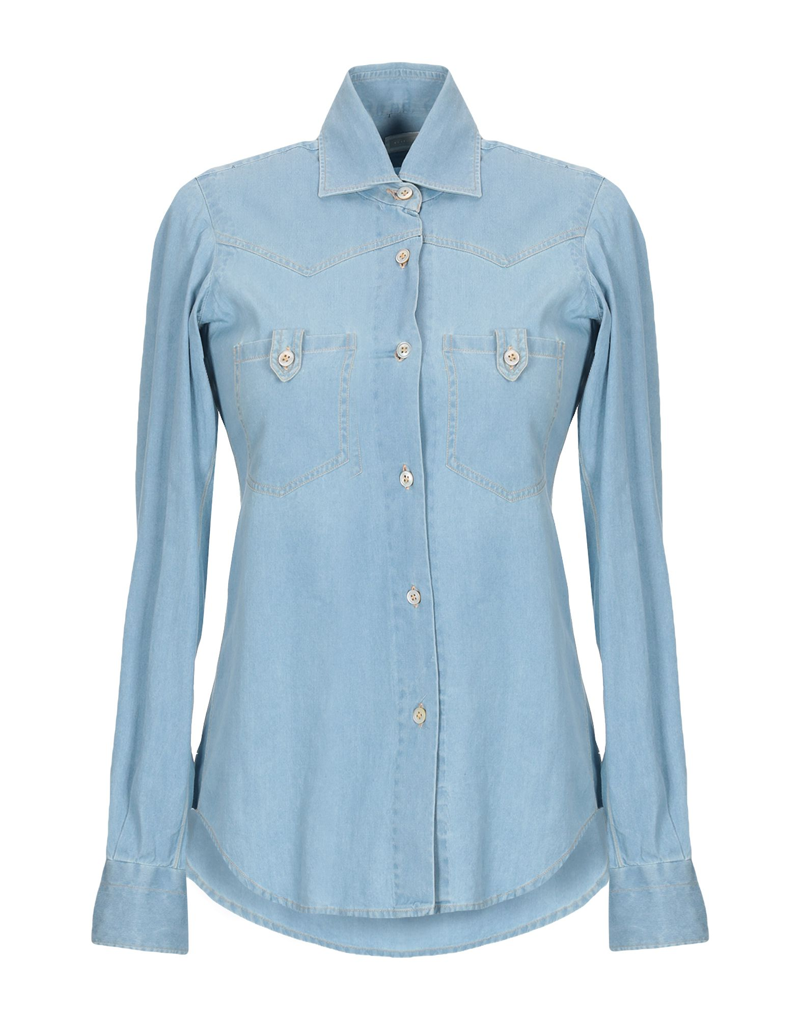 KITON Джинсовая рубашка kiton повседневные брюки