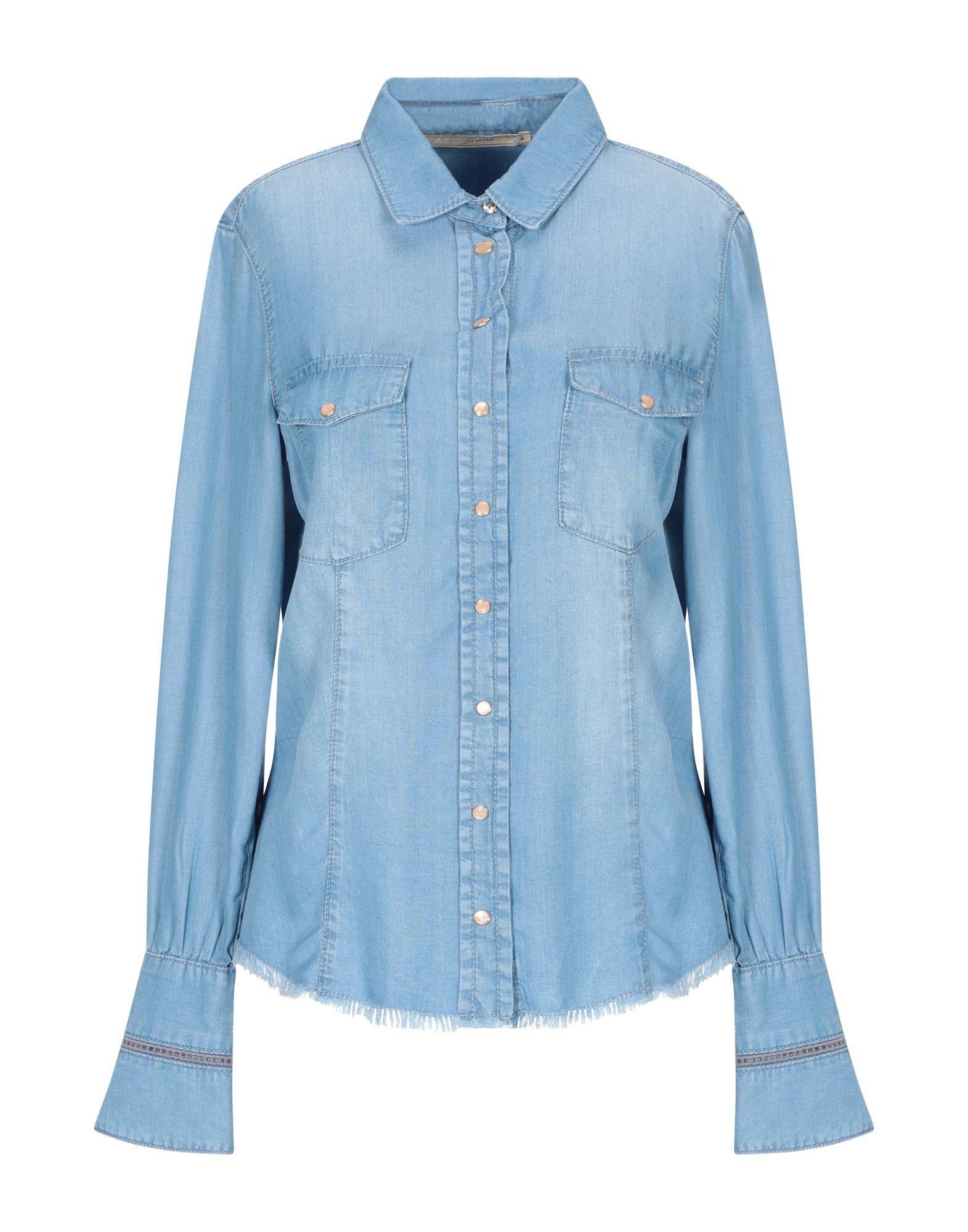 PATRIZIA PEPE Джинсовая рубашка рубашка patrizia pepe patrizia pepe pa748ewgkaq5