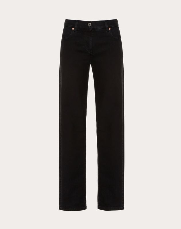 Deconstructed Go Logo Black Jeans