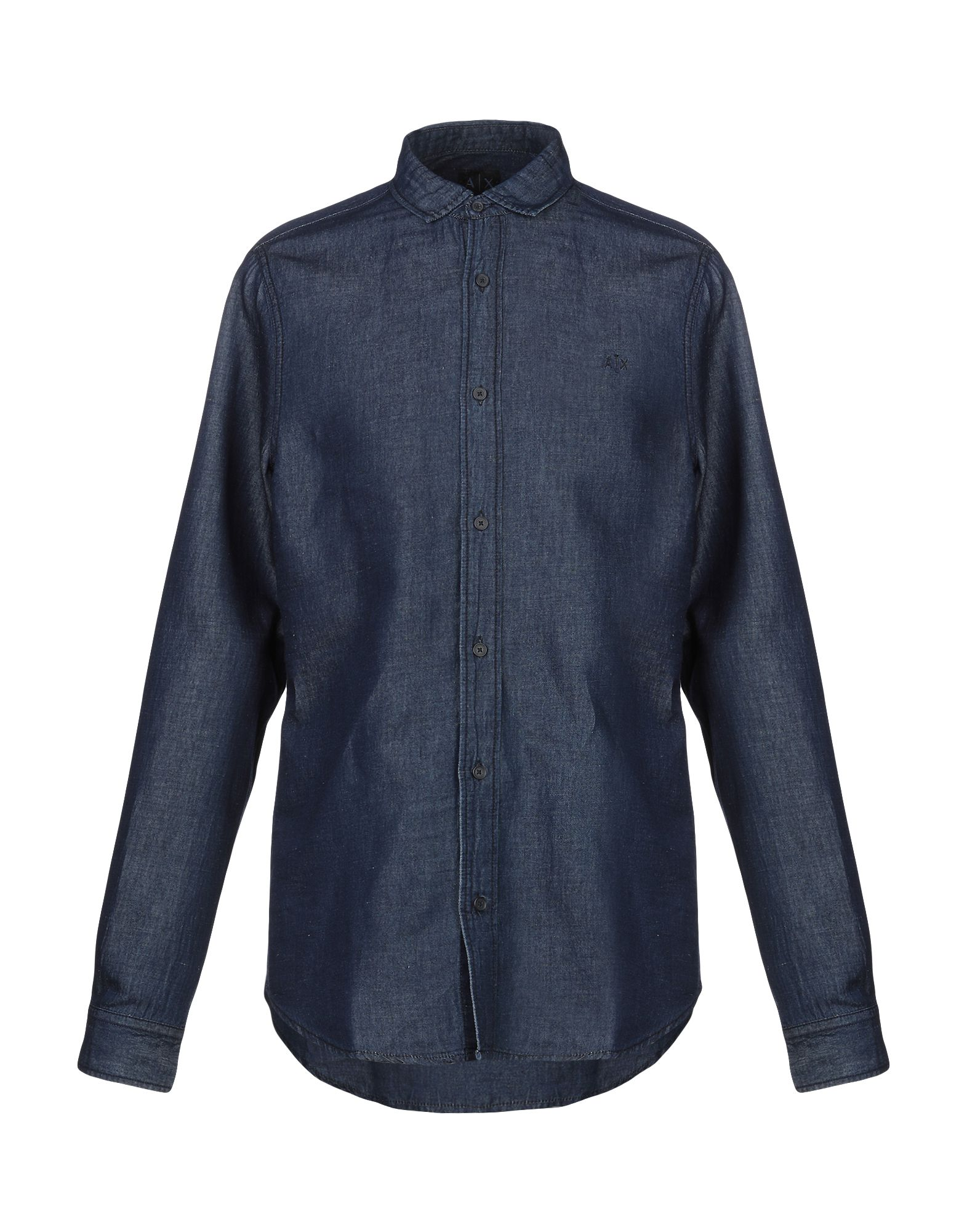 ARMANI EXCHANGE Джинсовая рубашка рубашка armani exchange armani exchange ar037emeity5