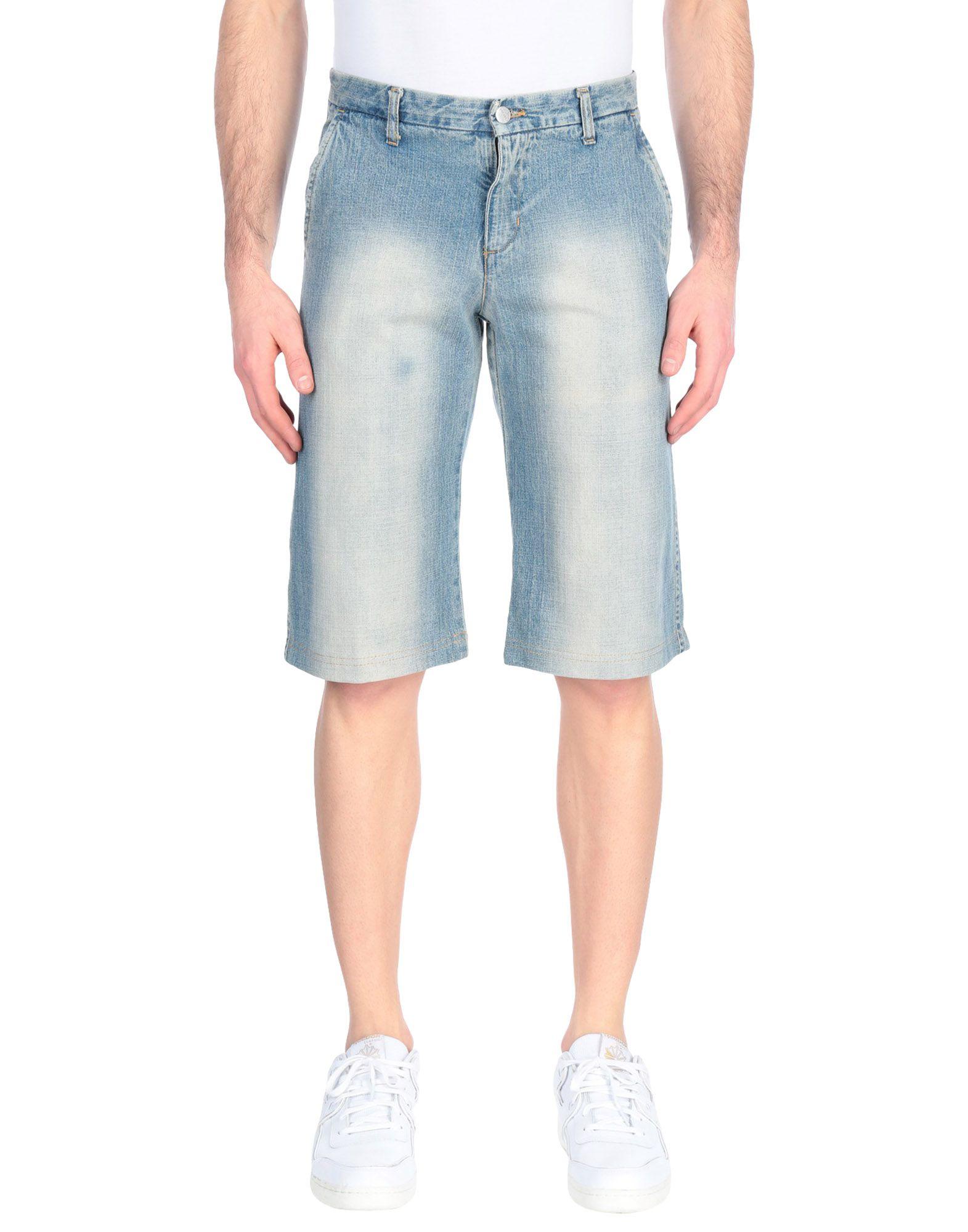 《セール開催中》HEIKO メンズ デニムバミューダパンツ ブルー 30 コットン 100%