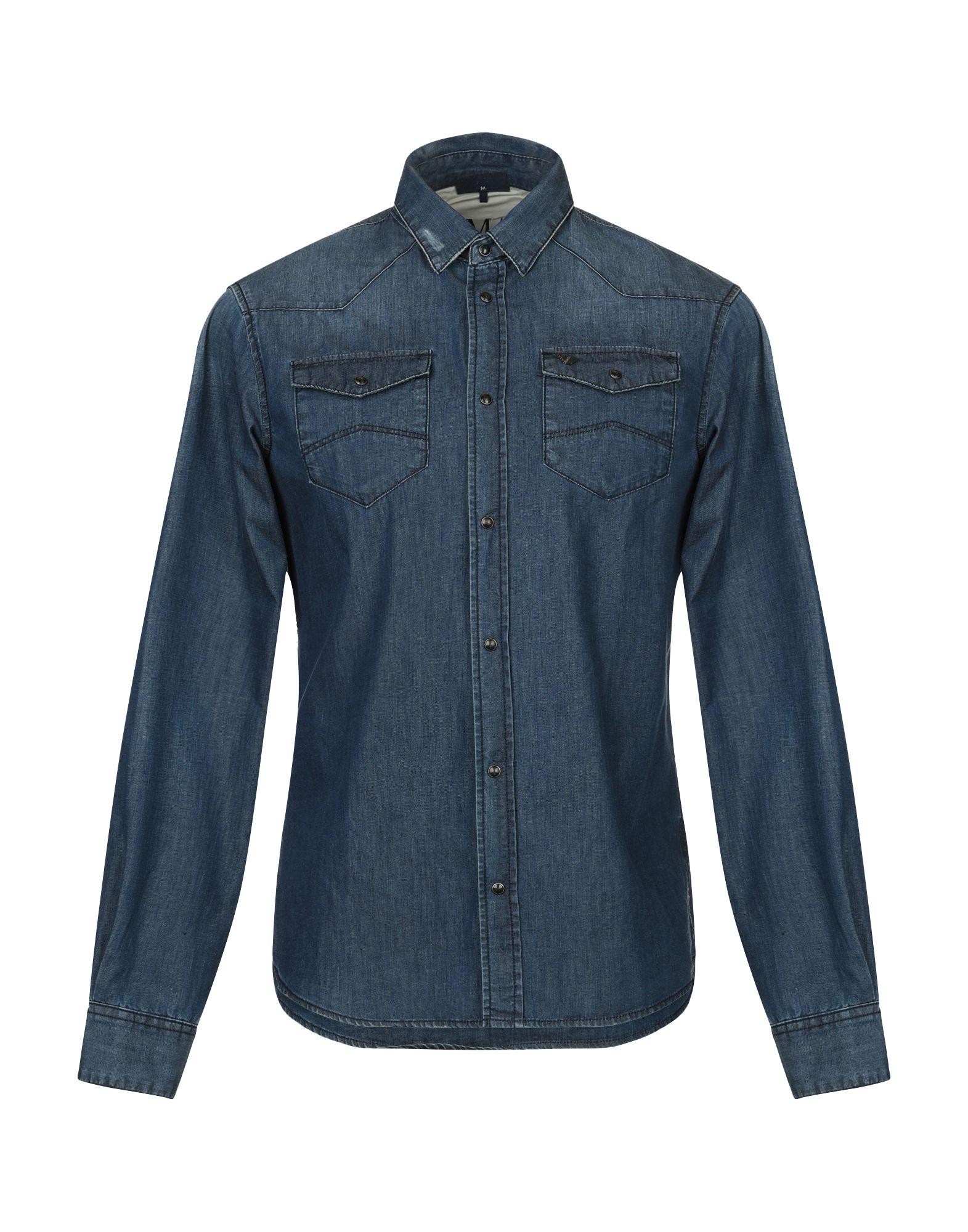 Фото - ARMANI JEANS Джинсовая рубашка брошь blucome bijouteria esmaltes 7106100495