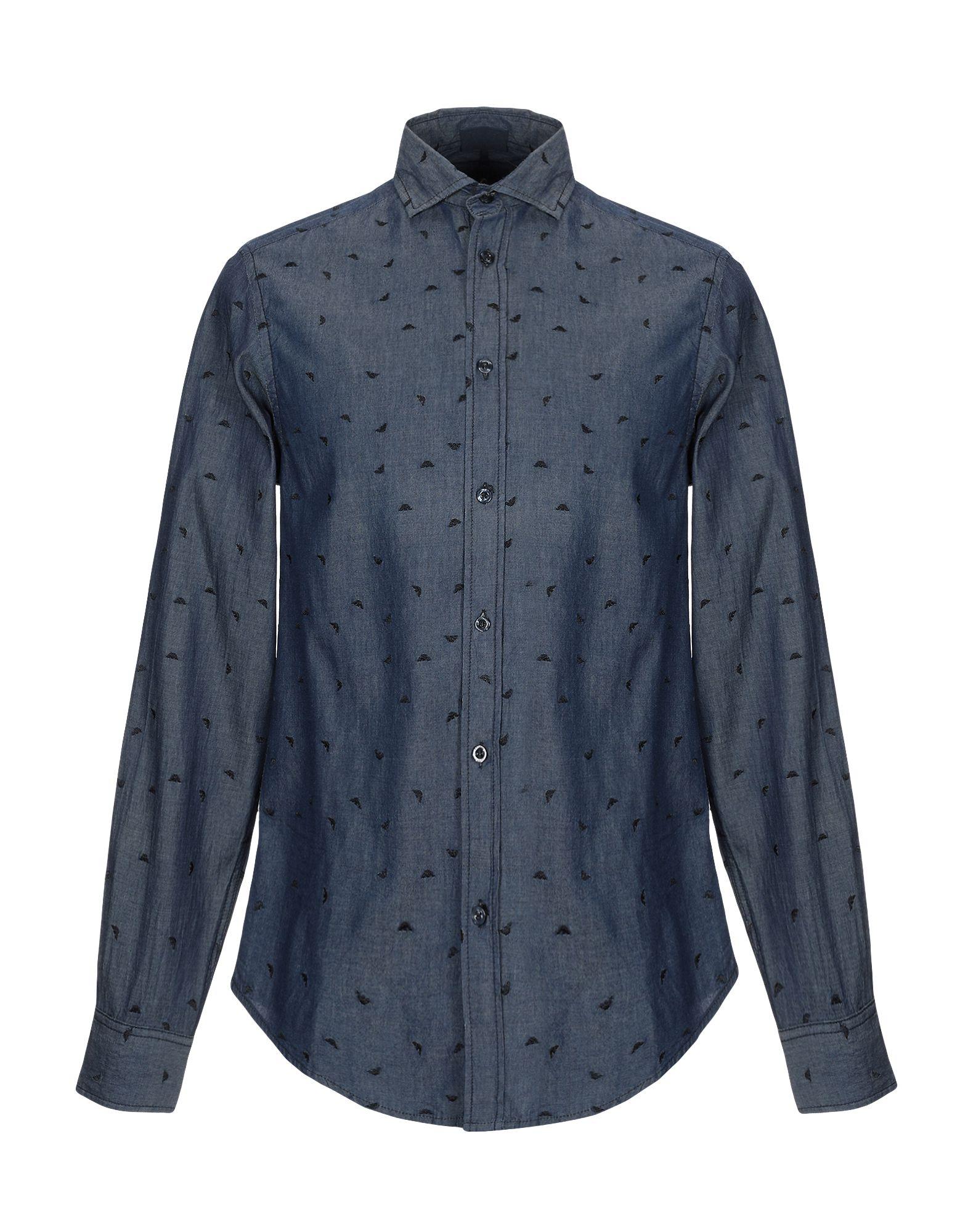ARMANI JEANS Джинсовая рубашка garcia jeans джинсовая рубашка
