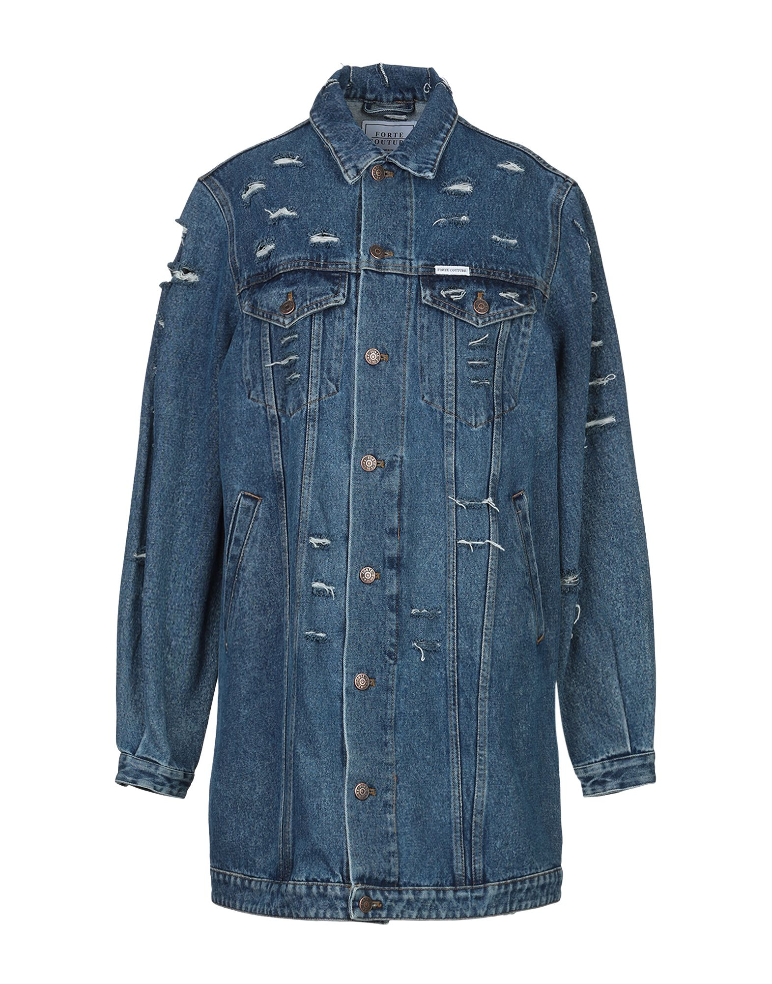 FORTE DEI MARMI COUTURE Джинсовая верхняя одежда недорго, оригинальная цена