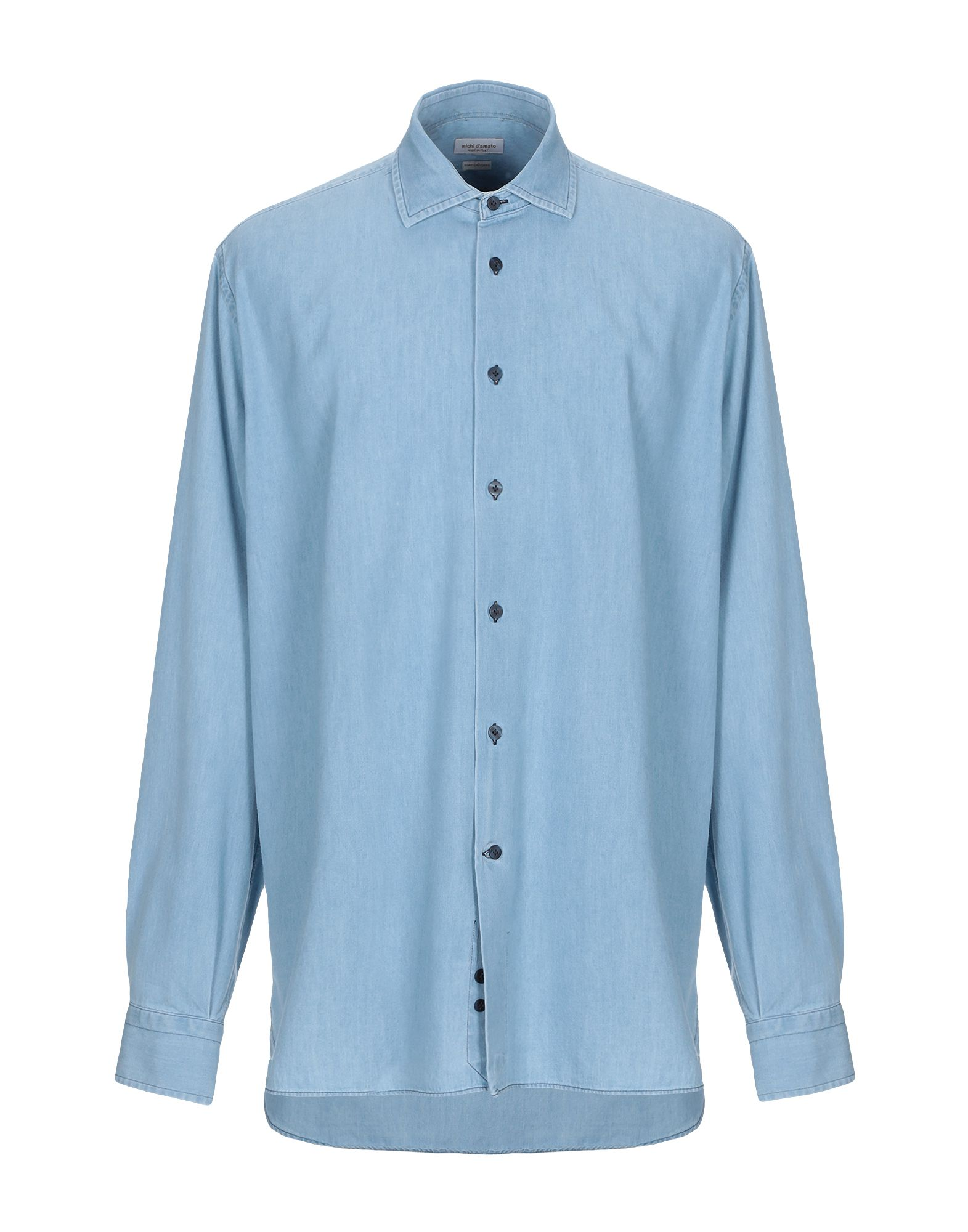 MICHI D'AMATO Джинсовая рубашка недорго, оригинальная цена