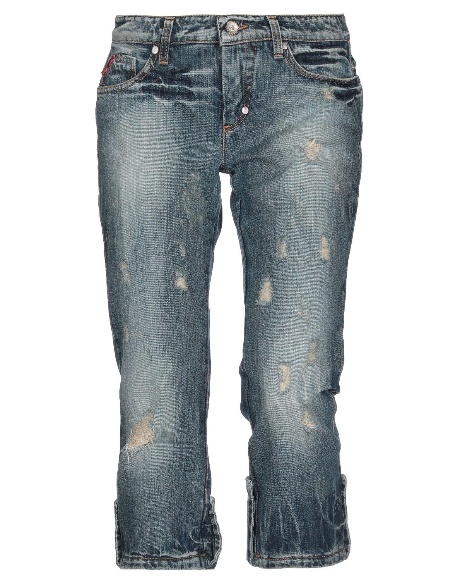 FRANKIE MORELLO Джинсовые брюки-капри недорго, оригинальная цена