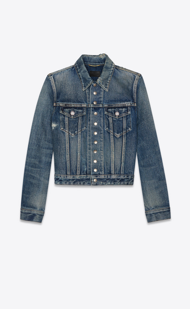 "denim jacket ""13 press buttons"" miami blue"