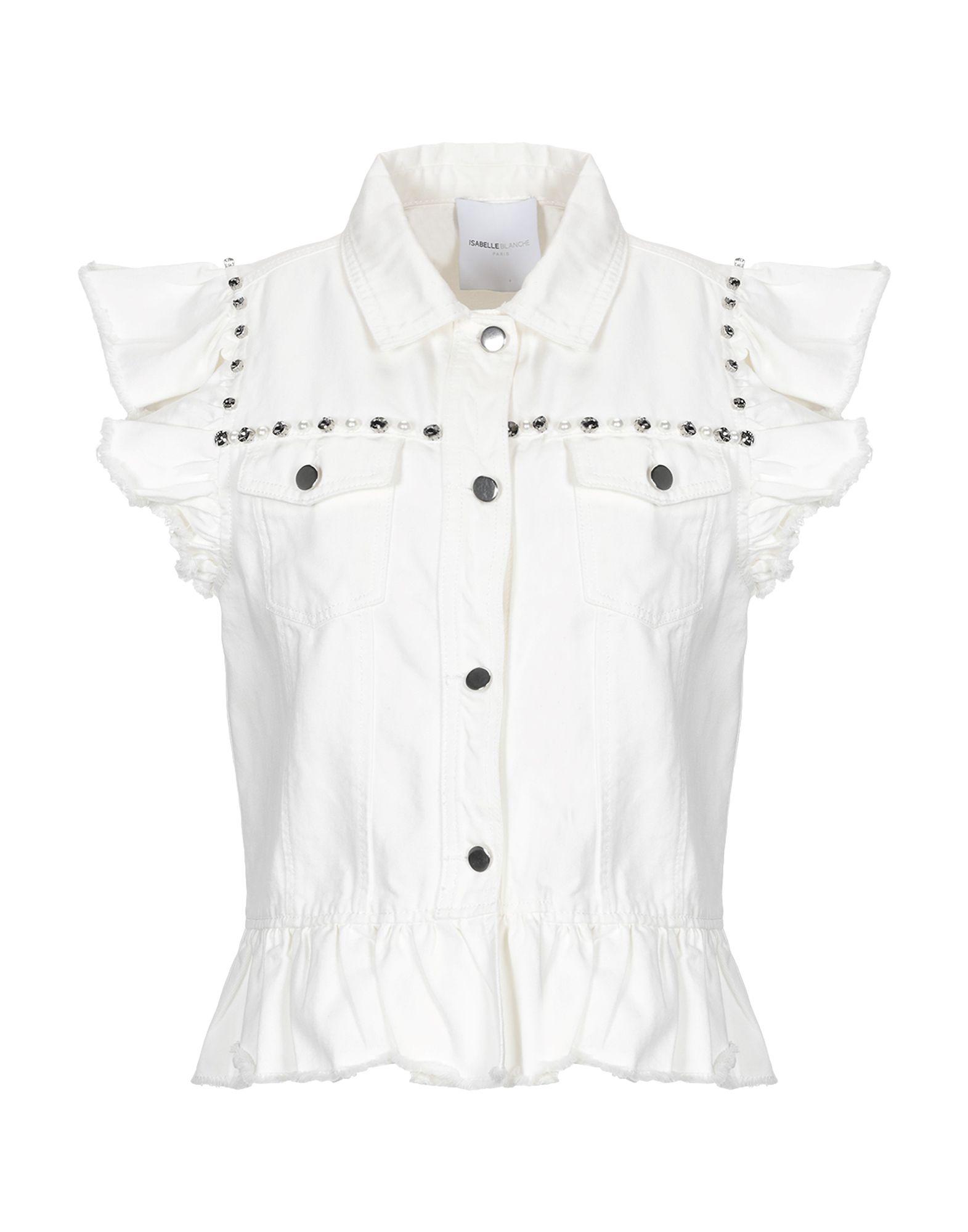 цена ISABELLE BLANCHE Paris Джинсовая верхняя одежда