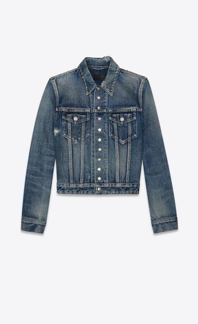 "Miami blue ""13-snap-button"" denim jacket"