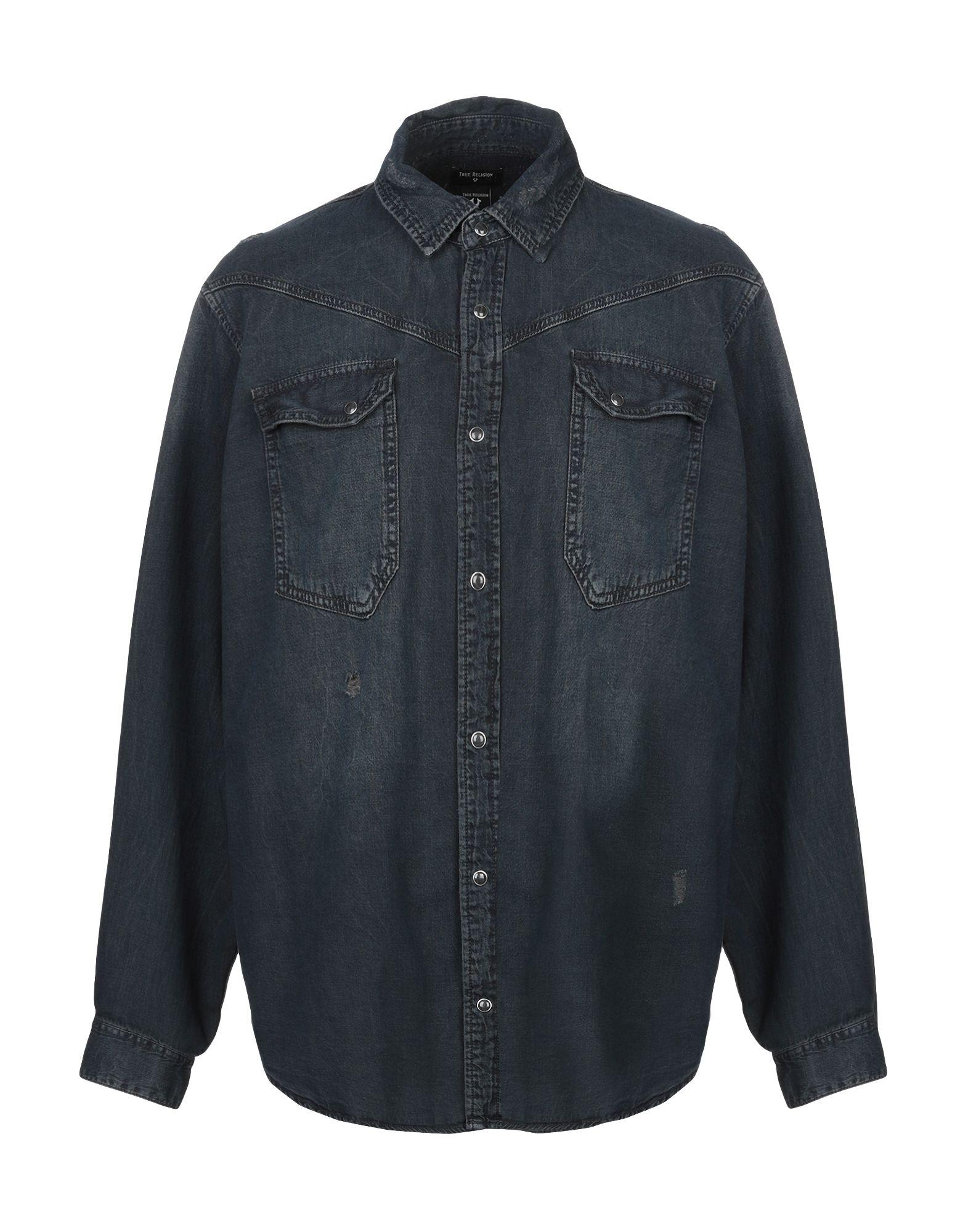 TRUE RELIGION Джинсовая рубашка цена 2017