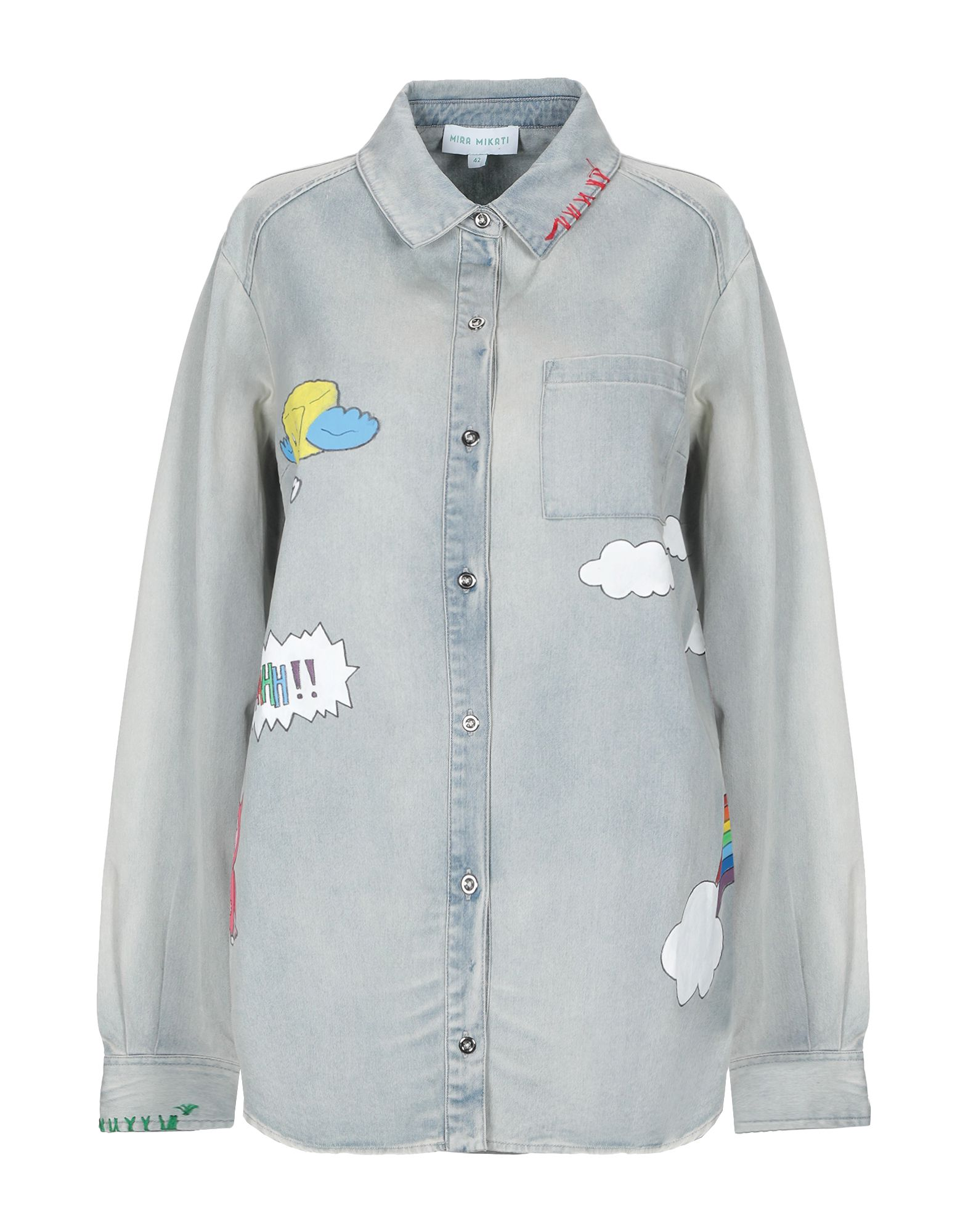 MIRA MIKATI Джинсовая рубашка mira mikati хлопковая рубашка с вышивкой на спине
