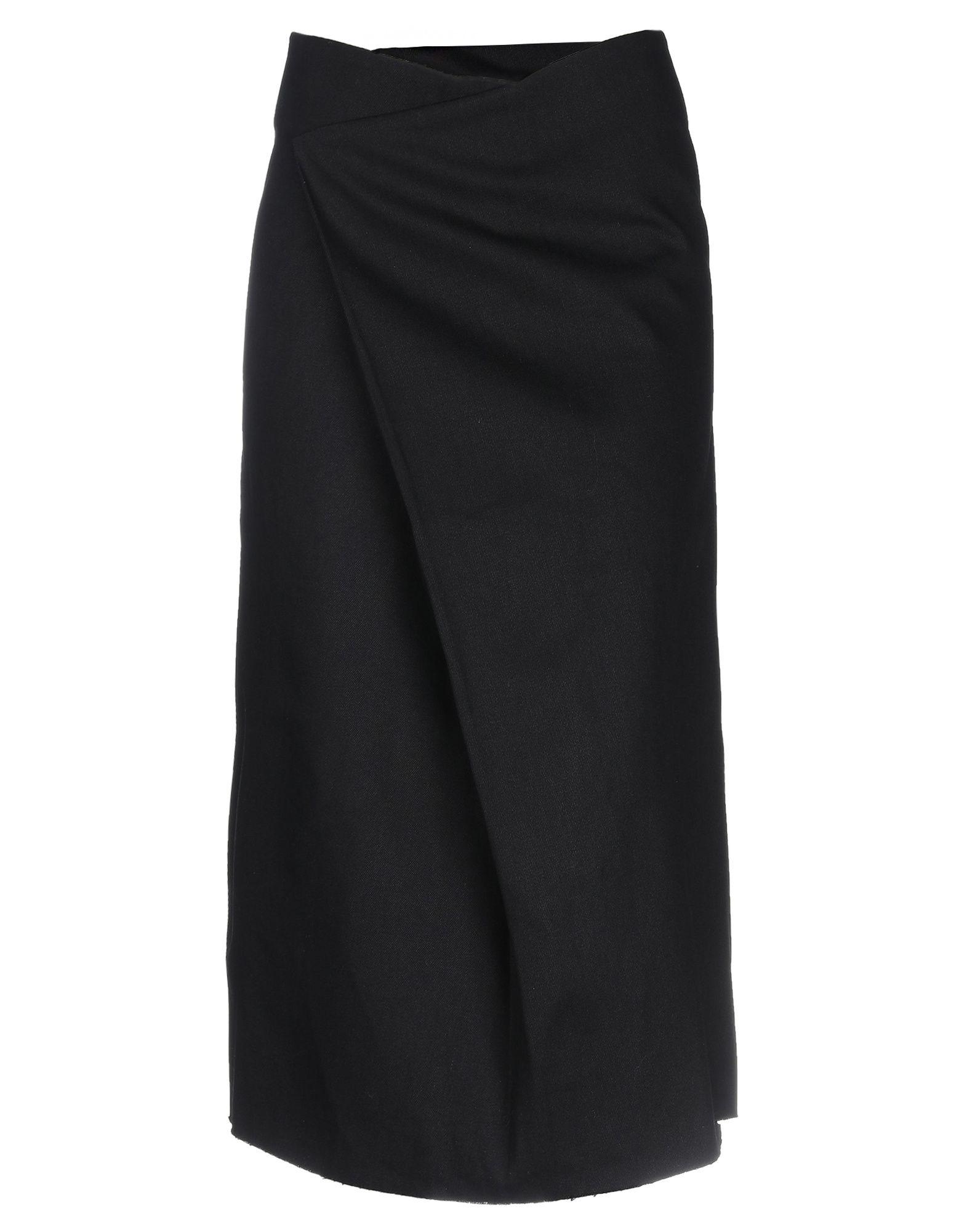 《セール開催中》CHARLIE MAY レディース デニムスカート ブラック 6 コットン 100%