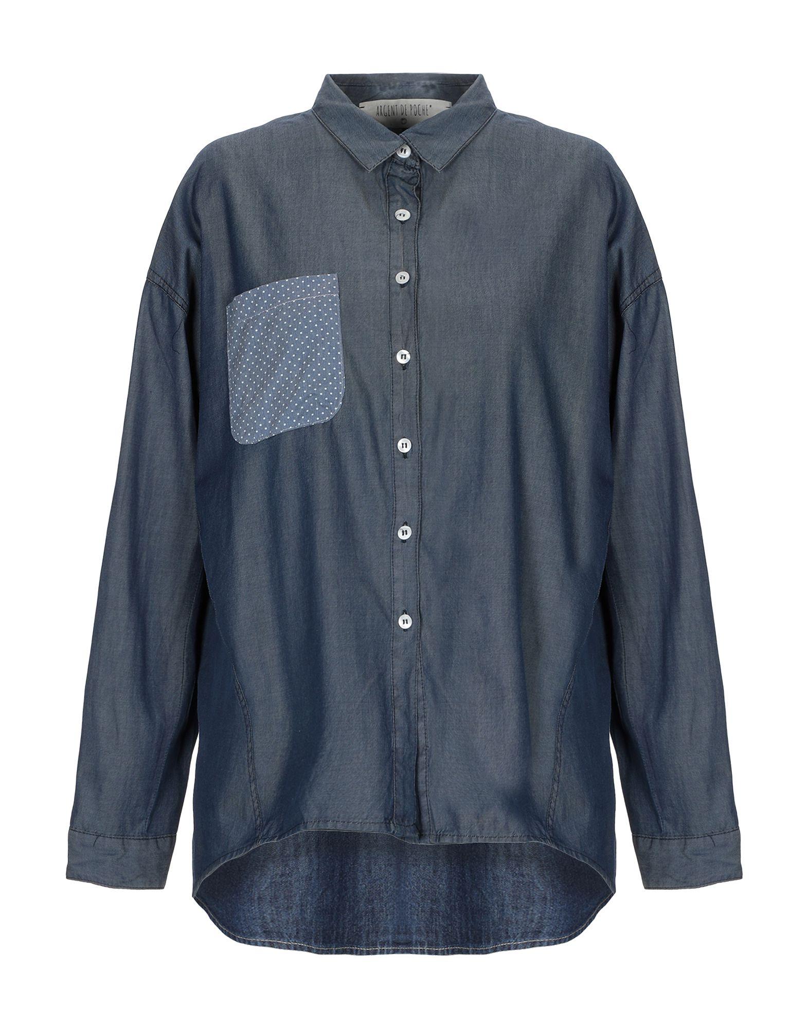《送料無料》ARGENT DE POCHE? レディース デニムシャツ ブルー 44 コットン 100%