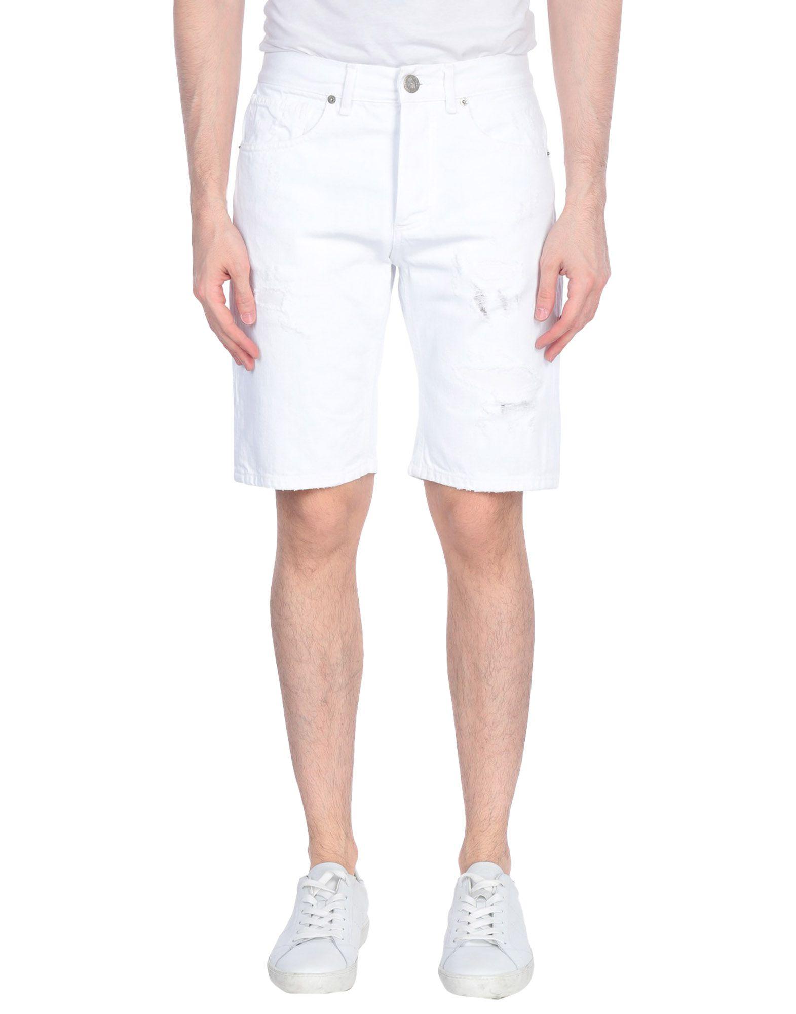《セール開催中》PMDS PREMIUM MOOD DENIM SUPERIOR メンズ デニムバミューダパンツ ホワイト 28 コットン 100%