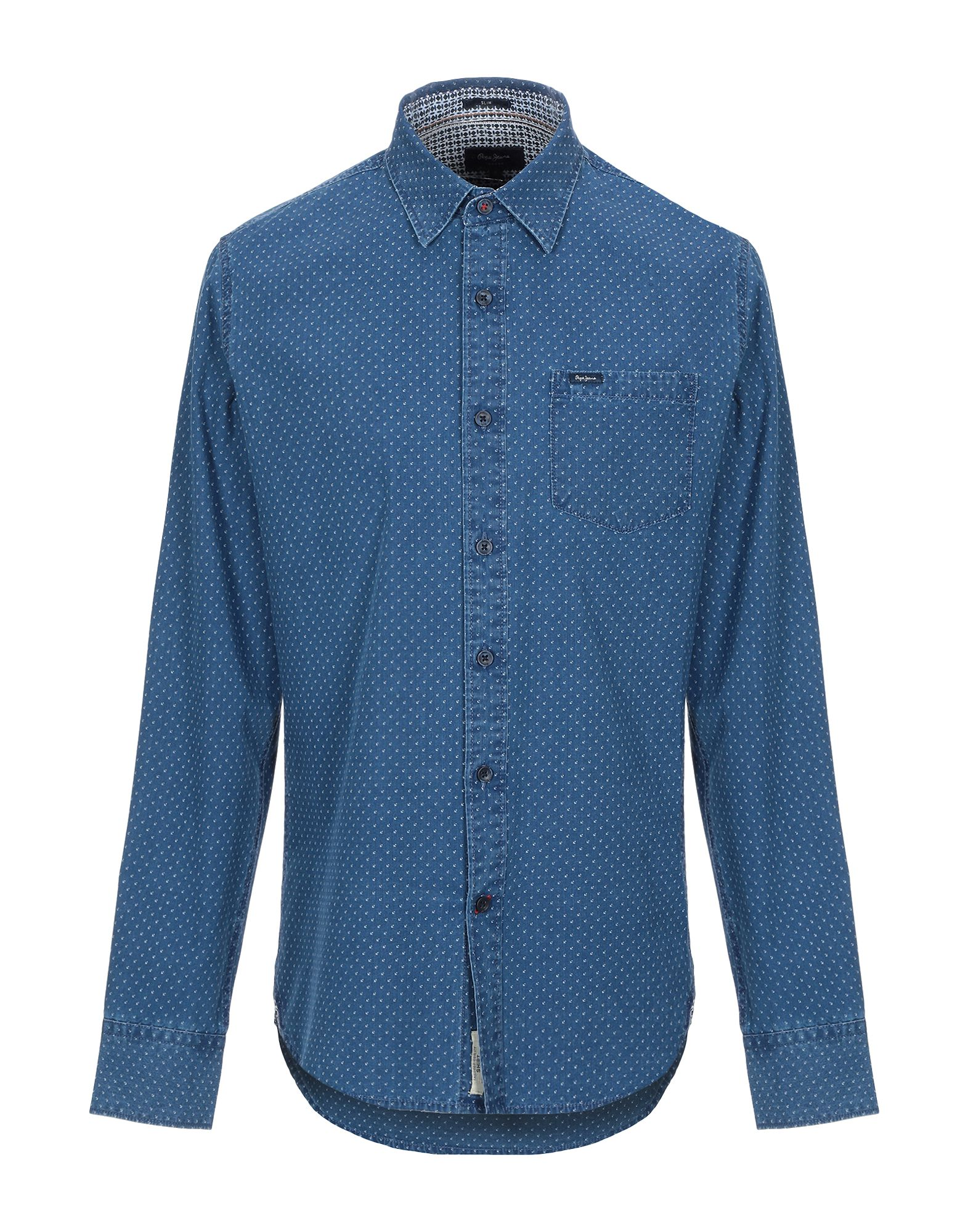 купить PEPE JEANS Джинсовая рубашка по цене 1650 рублей