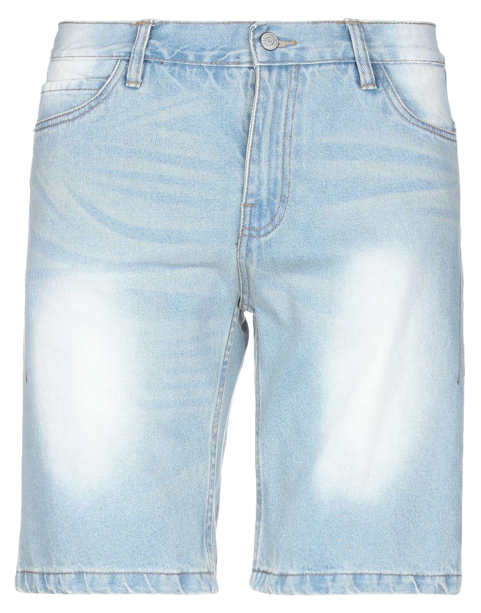 《セール開催中》ANERKJENDT メンズ デニムバミューダパンツ ブルー S コットン 100%