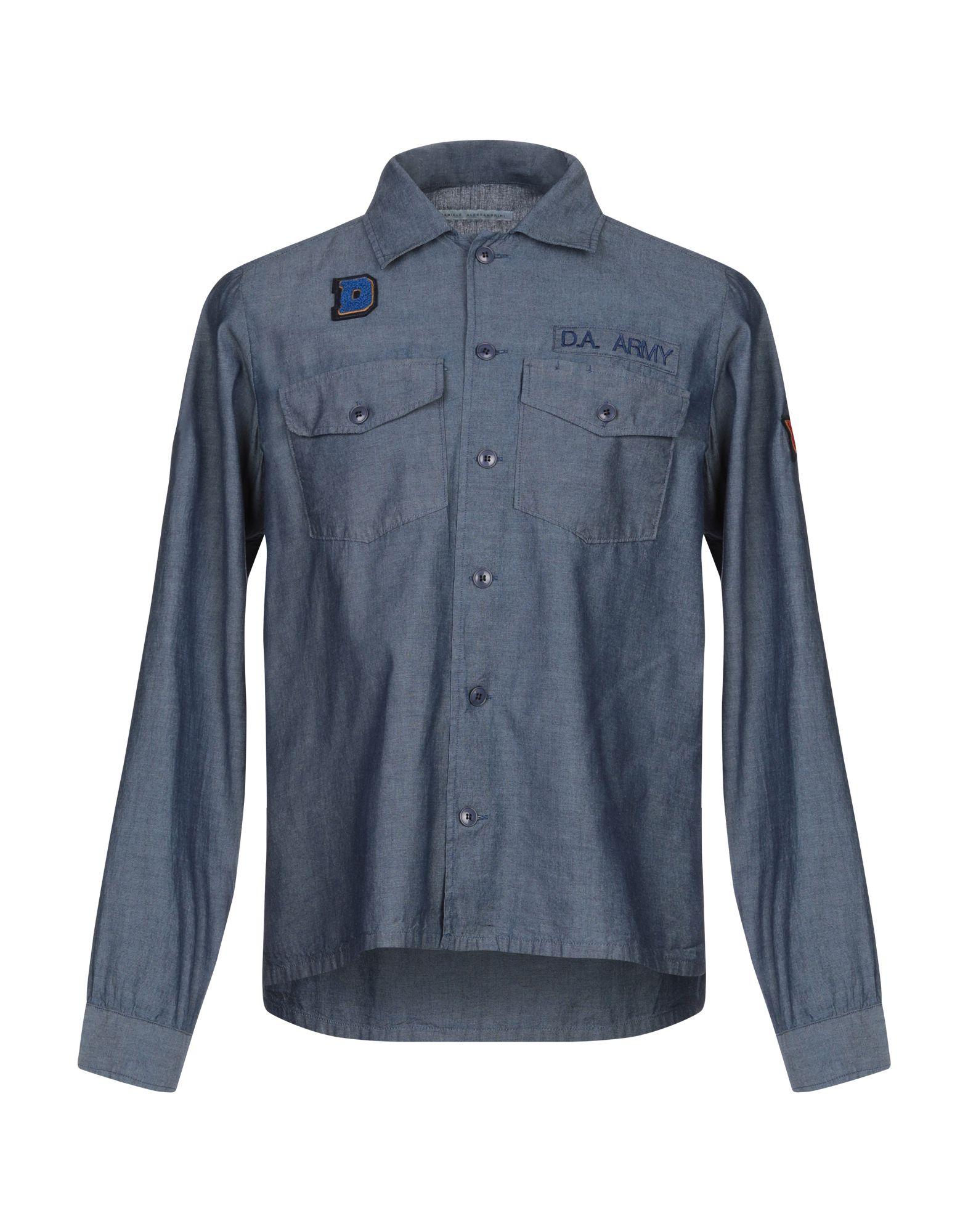 DANIELE ALESSANDRINI Джинсовая рубашка daniele alessandrini homme джинсовая рубашка