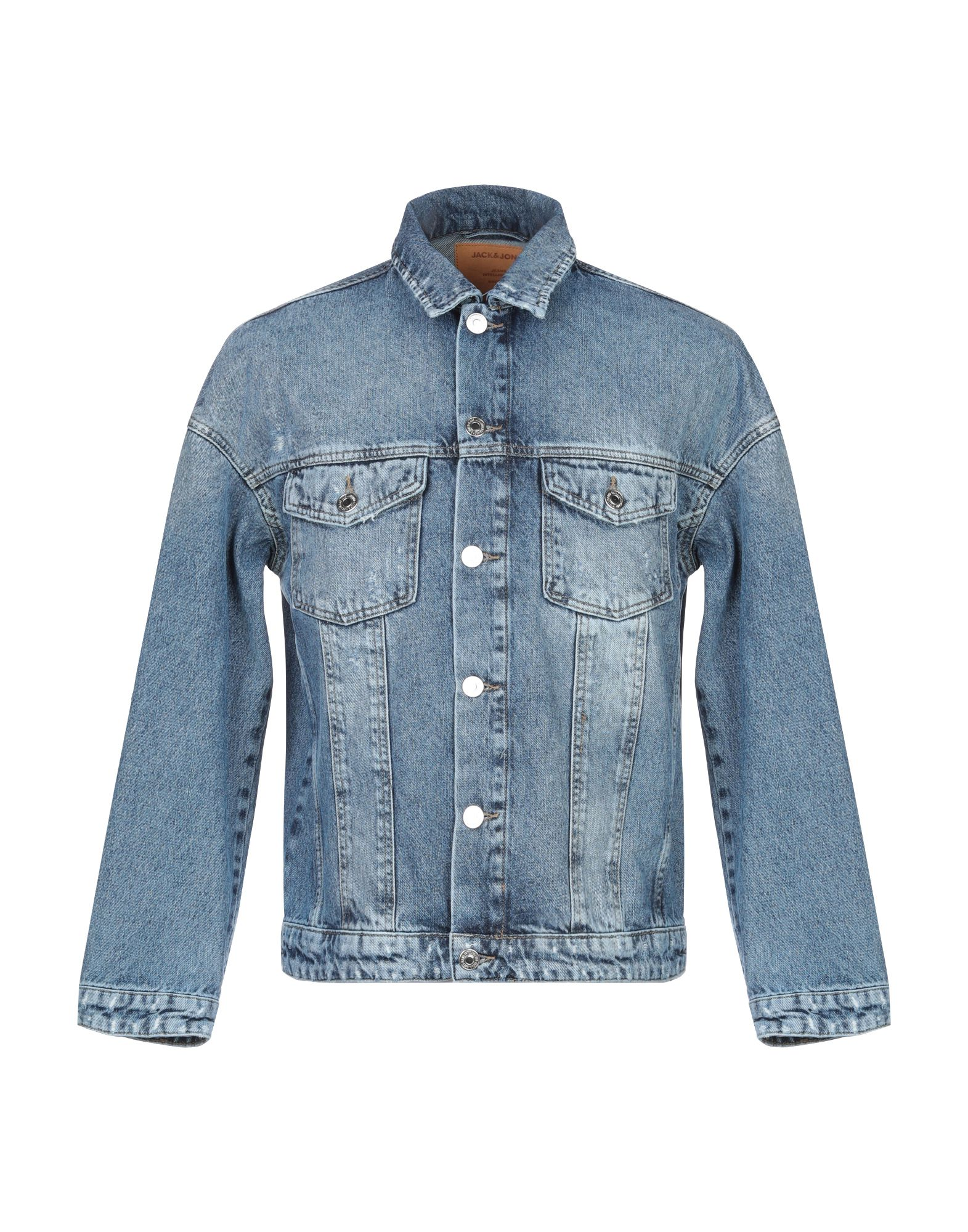 цена JACK & JONES Джинсовая верхняя одежда онлайн в 2017 году
