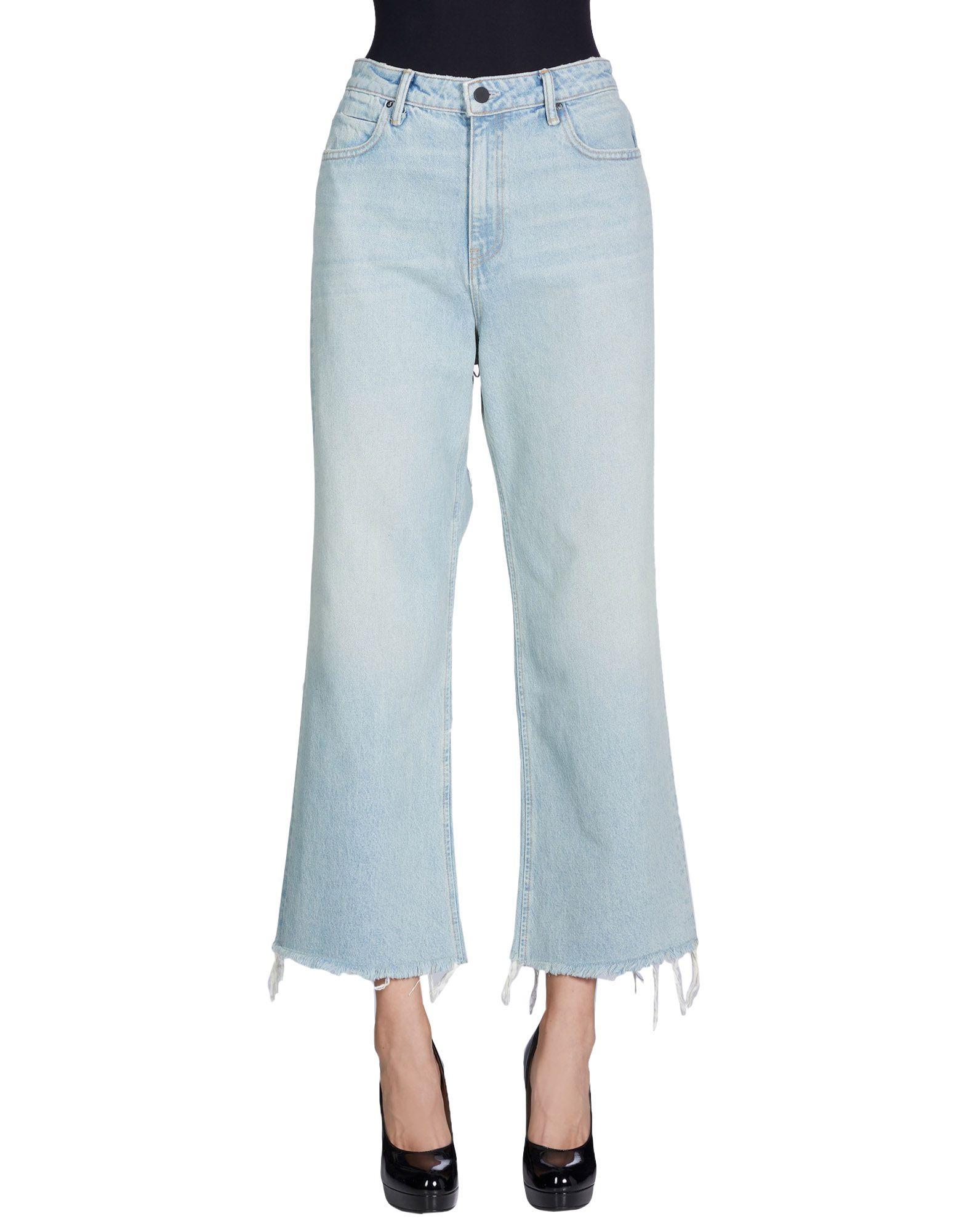 ALEXANDER WANG Джинсовые брюки t by alexander wang свитер