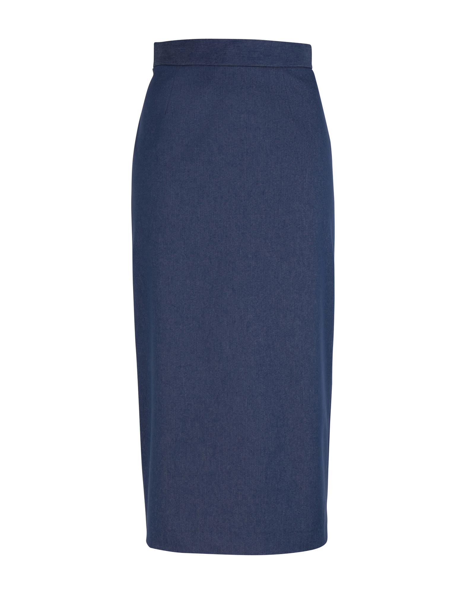 《期間限定セール開催中!》MARIANNA CIMINI レディース デニムスカート ブルー 38 コットン 77% / ポリエステル 20% / ポリウレタン 3%
