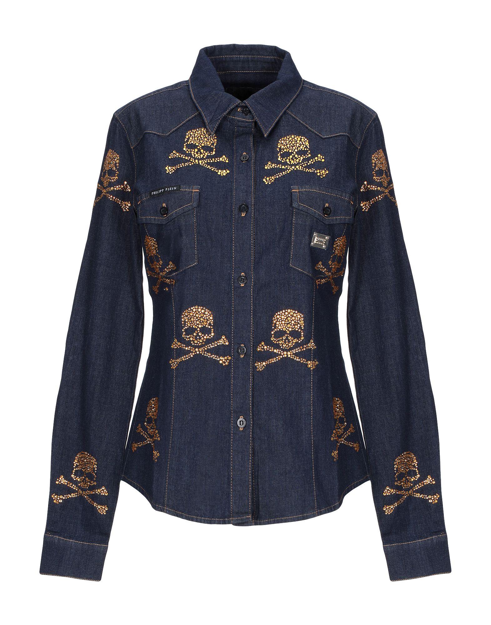 купить PHILIPP PLEIN Джинсовая рубашка по цене 43500 рублей