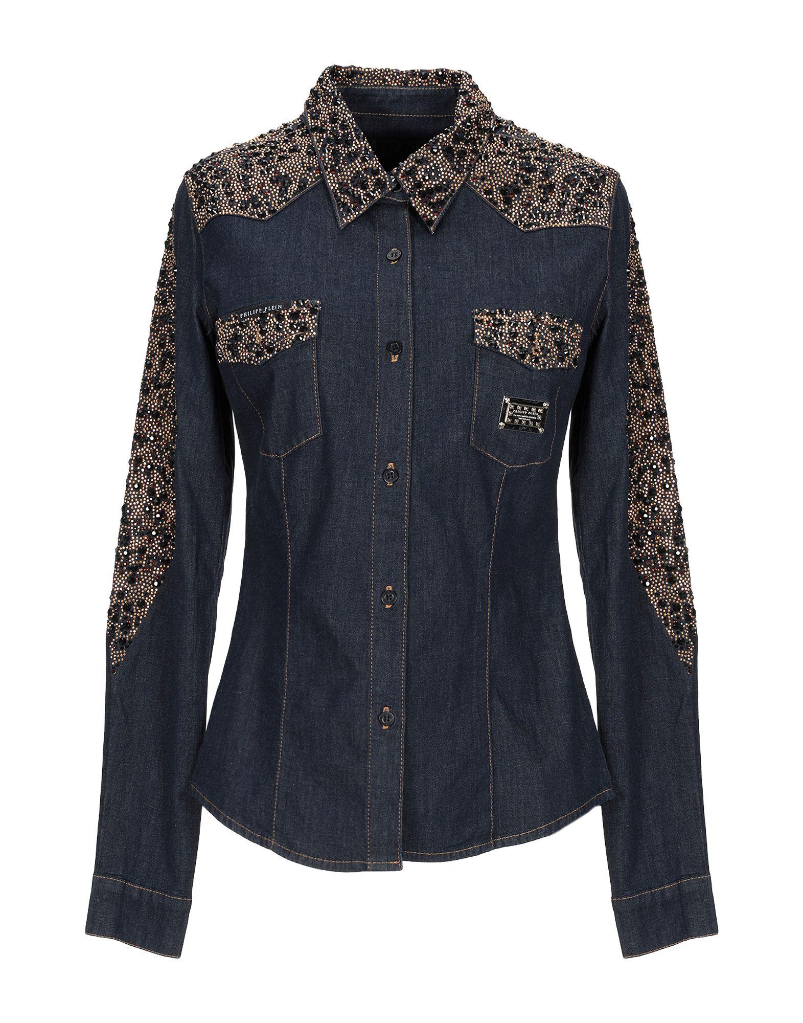 купить PHILIPP PLEIN Джинсовая рубашка по цене 24750 рублей