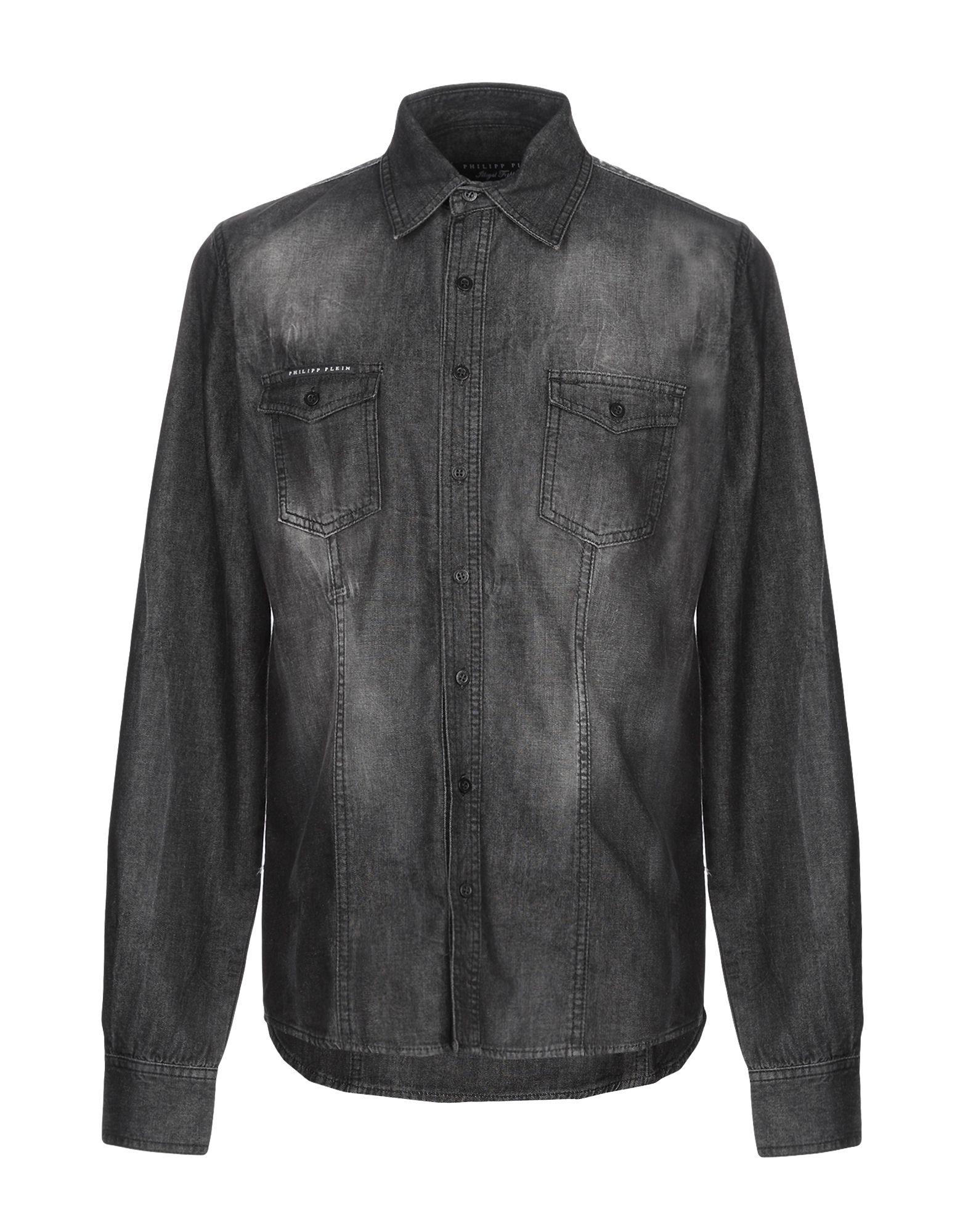 PHILIPP PLEIN Джинсовая рубашка burberry джинсовая рубашка