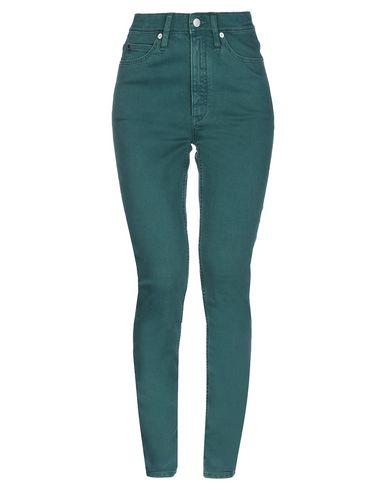 Купить Джинсовые брюки изумрудно-зеленого цвета