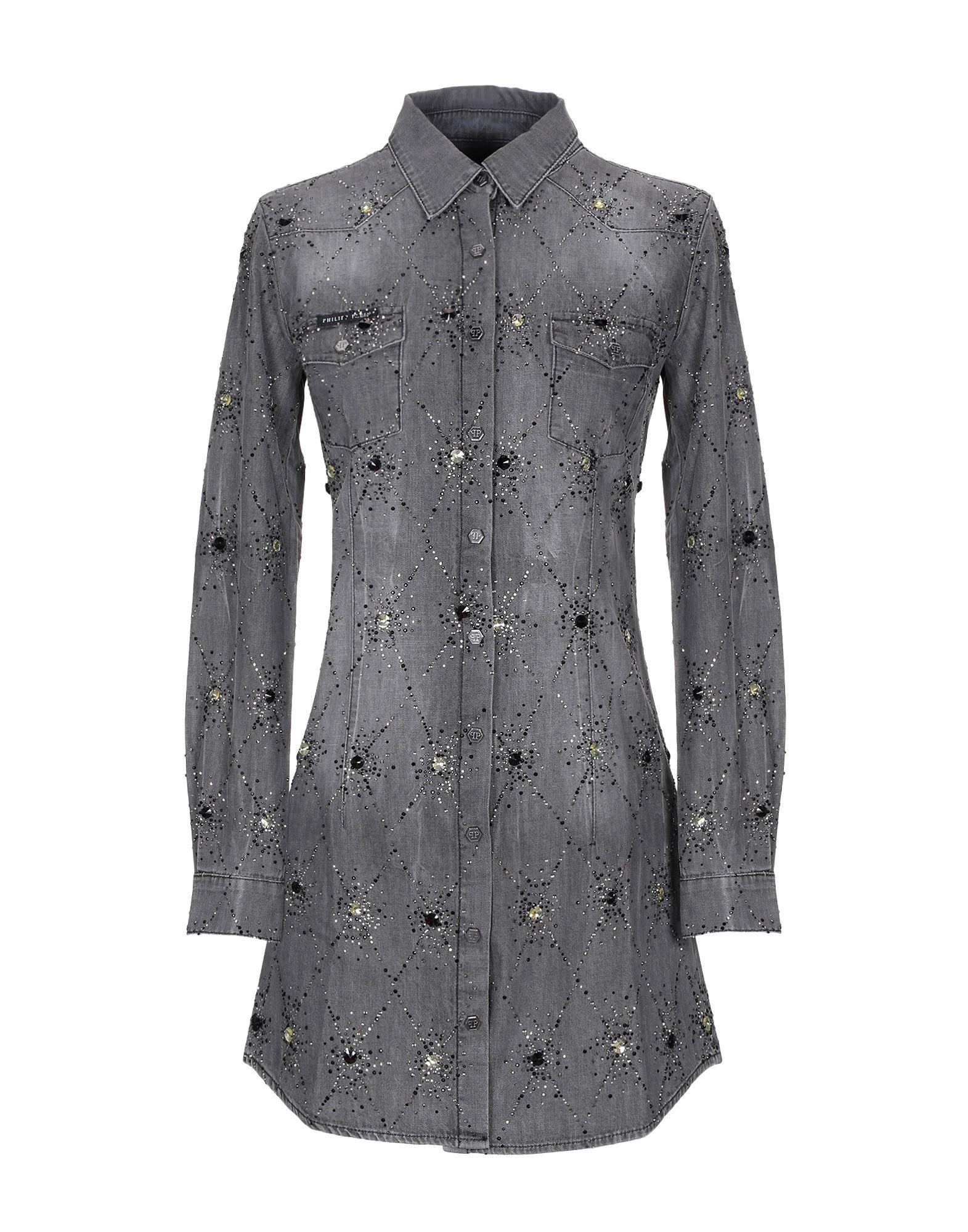 купить PHILIPP PLEIN Джинсовая рубашка по цене 39150 рублей