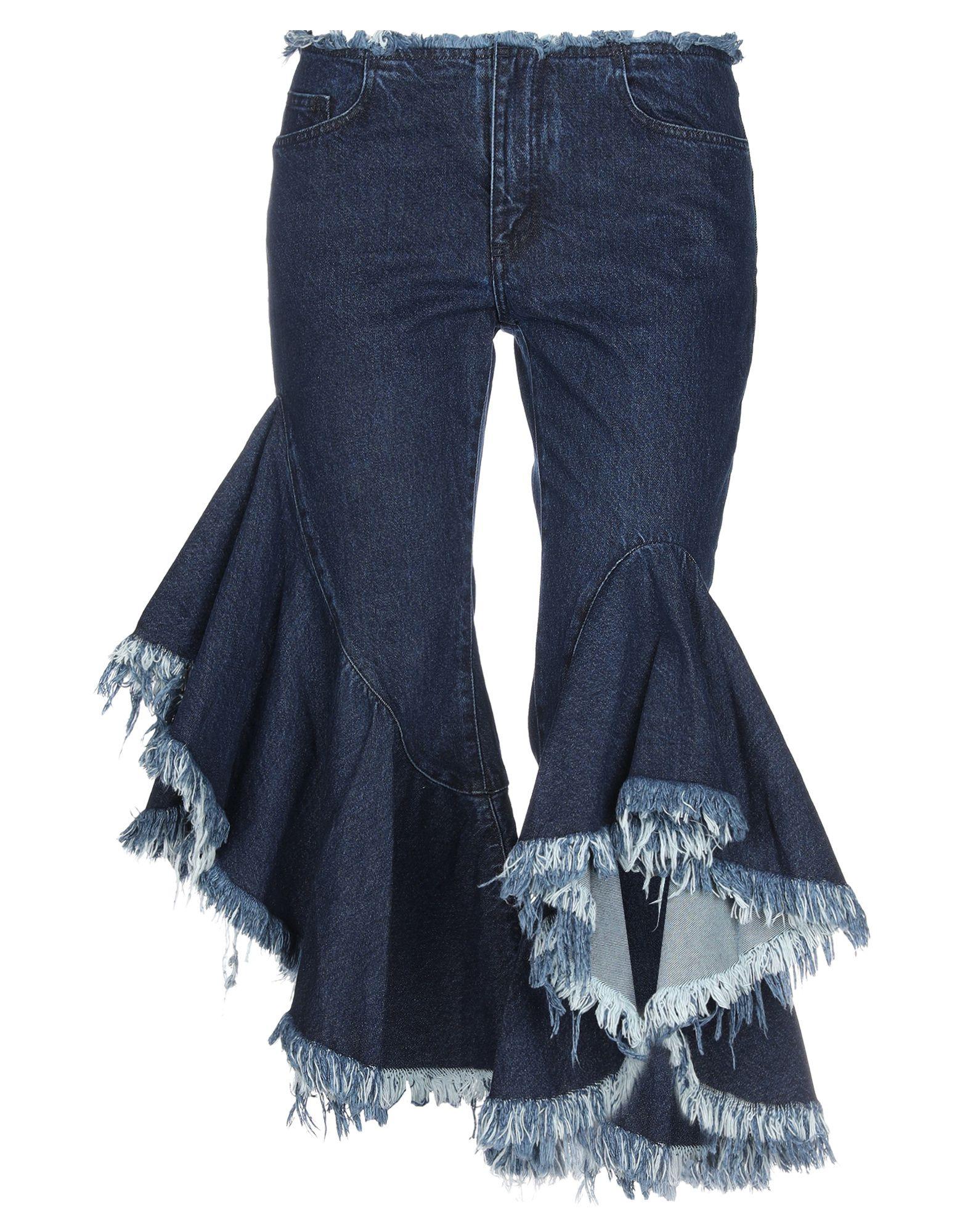 MARQUES' ALMEIDA Джинсовые брюки-капри marques almeida джинсовые брюки