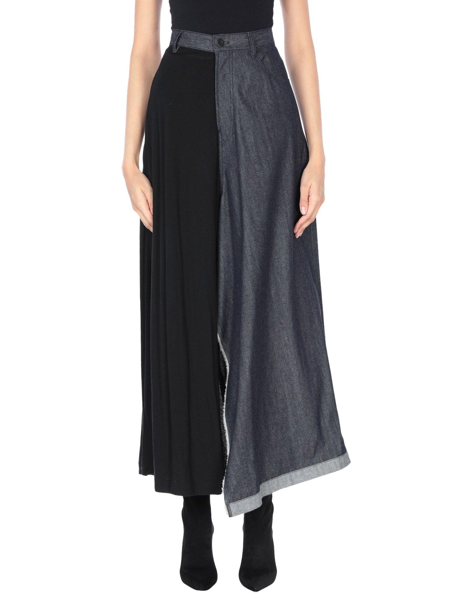 YOHJI YAMAMOTO Джинсовая юбка yohji yamamoto юбка до колена