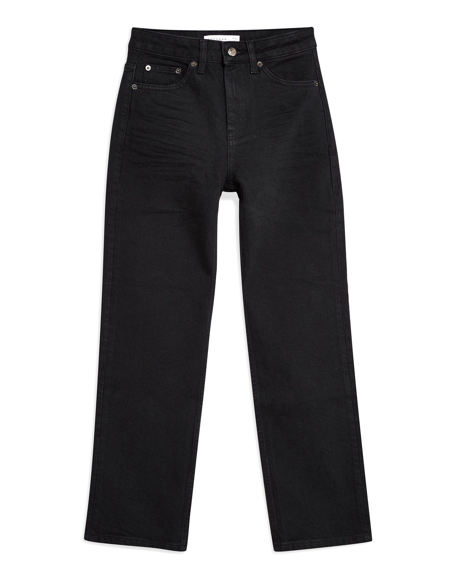 《セール開催中》TOPSHOP レディース ジーンズ ブラック 25W-32L コットン 99% / ポリウレタン 1% CLEAN BLACK STRAIGHT JEAN