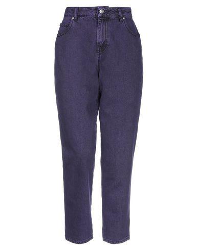Купить Джинсовые брюки фиолетового цвета