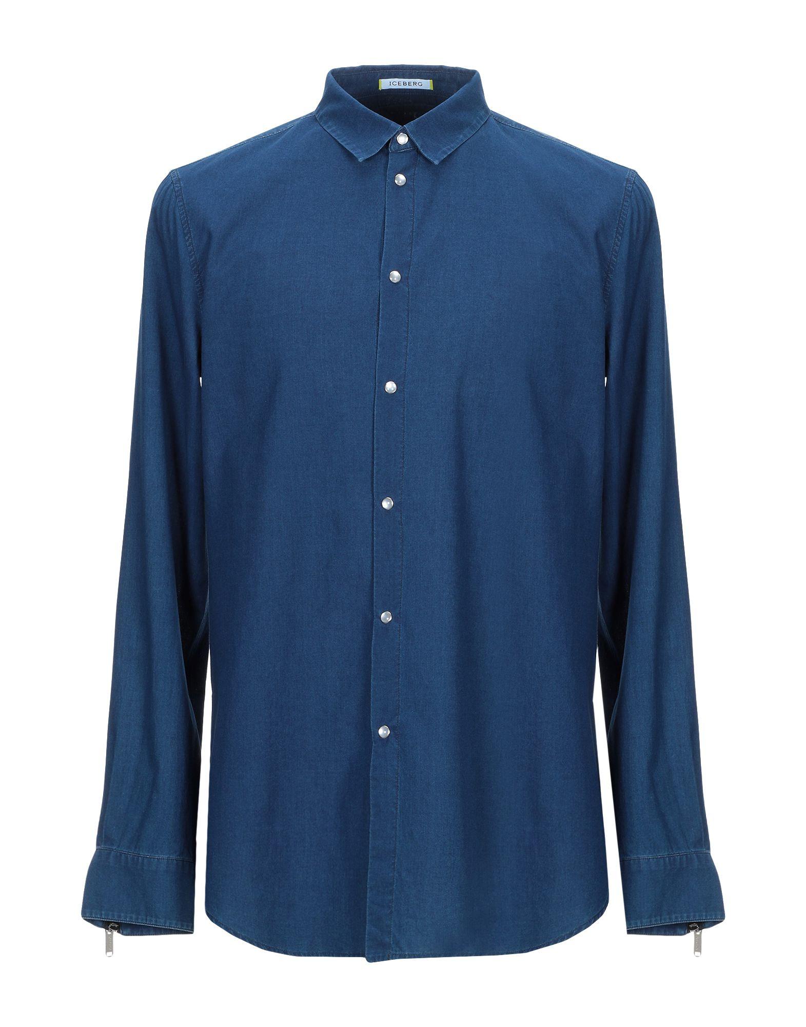 ICEBERG Джинсовая рубашка рубашка iceberg iceberg ic461ewbqkx6