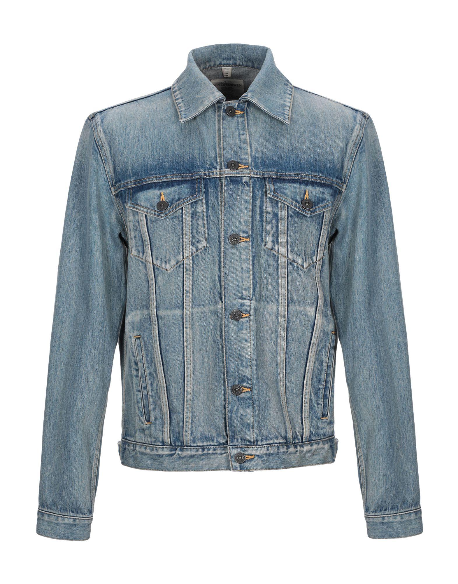 《期間限定セール中》KENT & CURWEN メンズ デニムアウター ブルー L コットン 100%