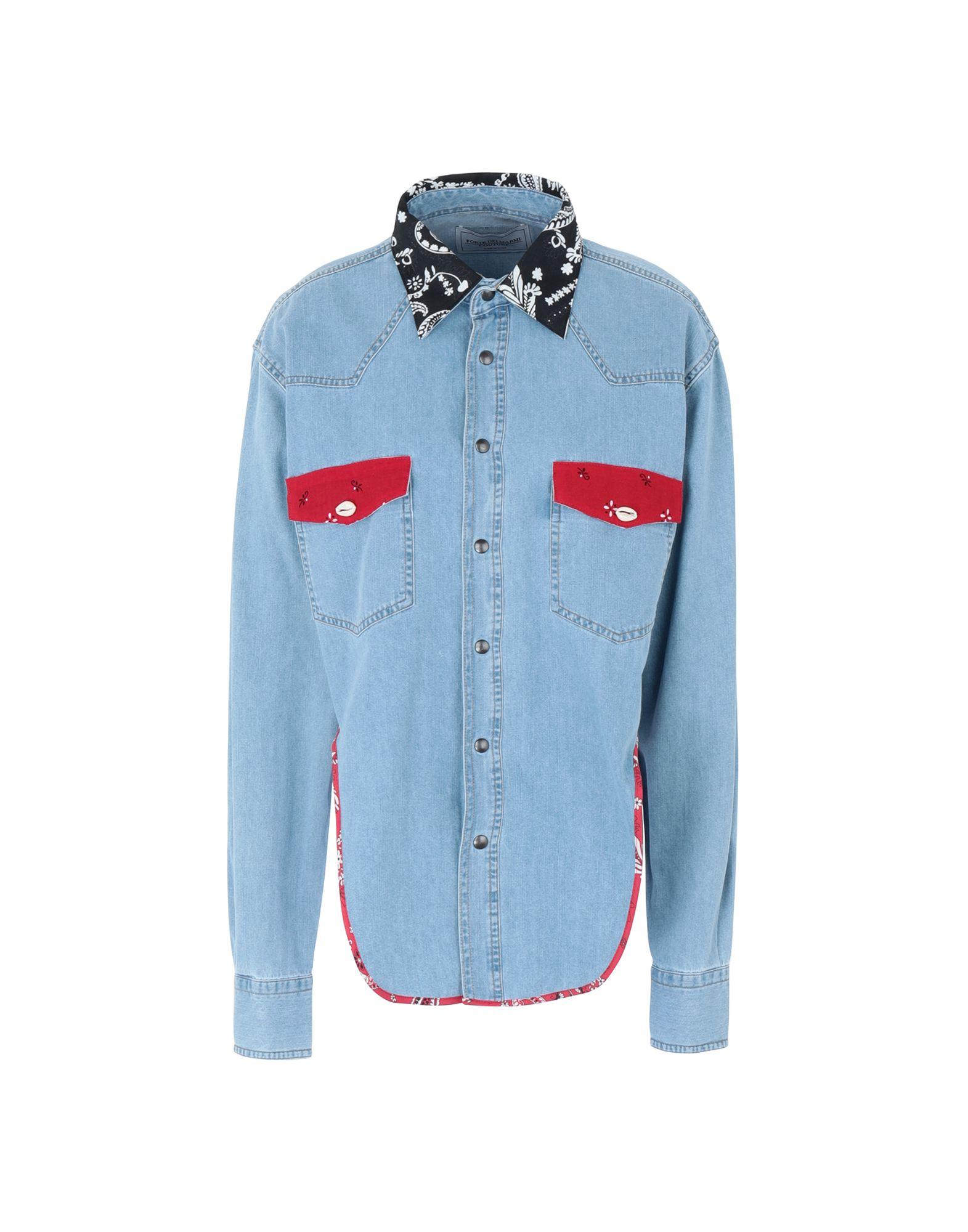 FORTE DEI MARMI COUTURE Джинсовая рубашка недорго, оригинальная цена