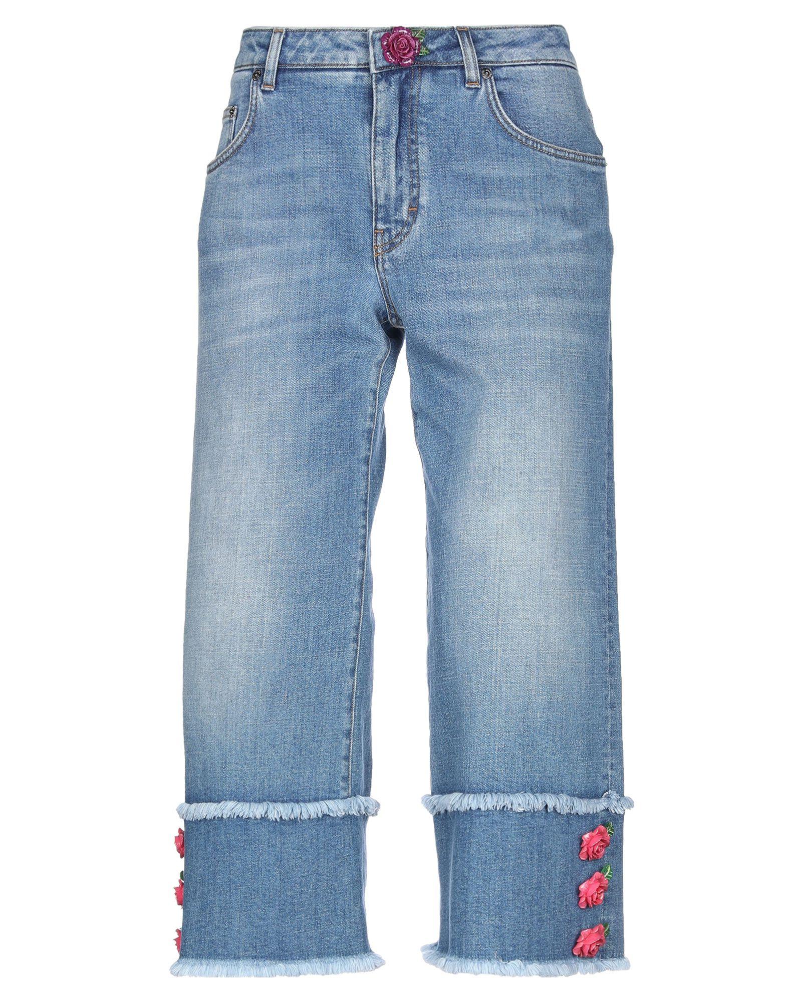 купить DOLCE & GABBANA Джинсовые брюки-капри по цене 39950 рублей