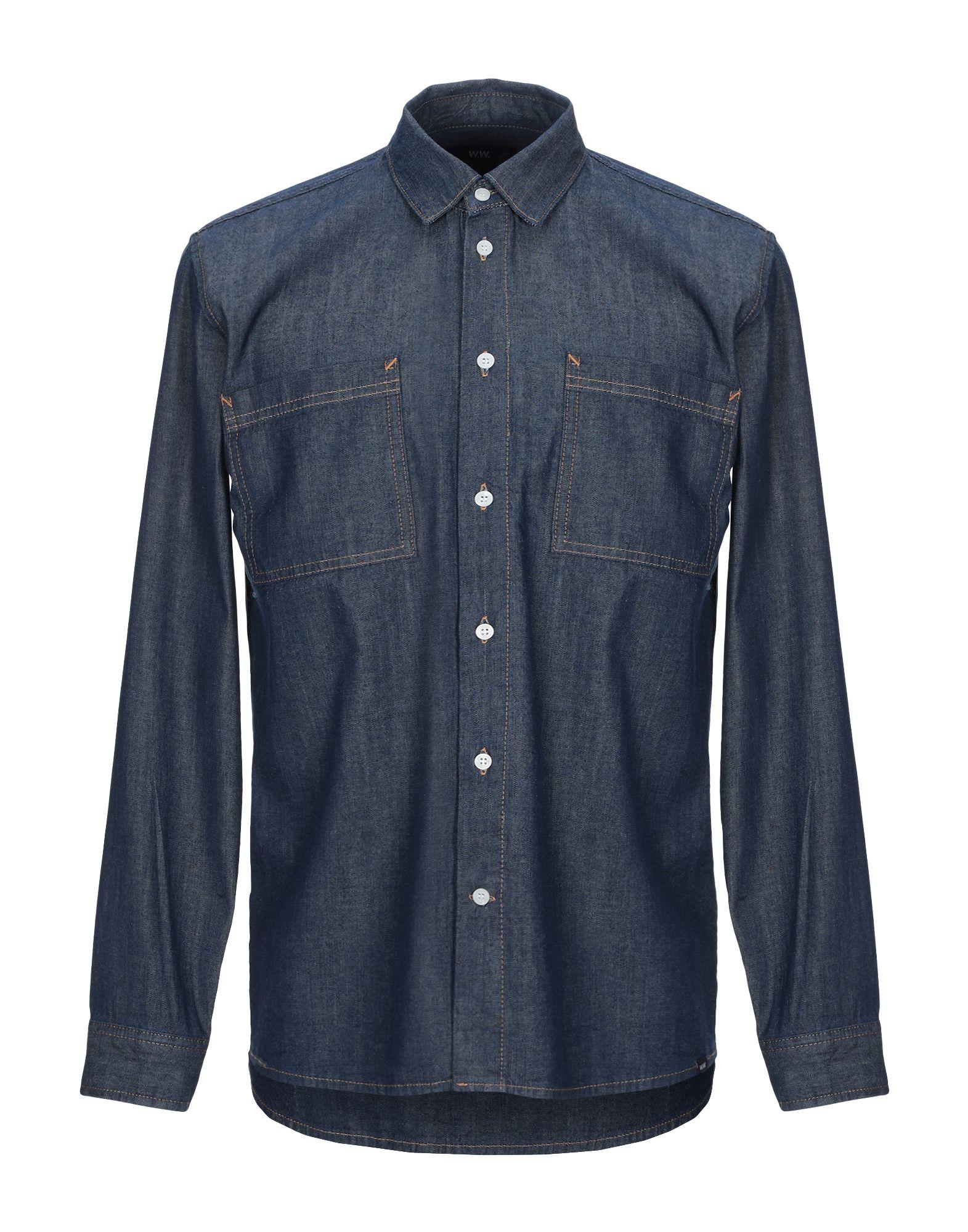 WOOD WOOD Джинсовая рубашка wood wood джинсовая верхняя одежда