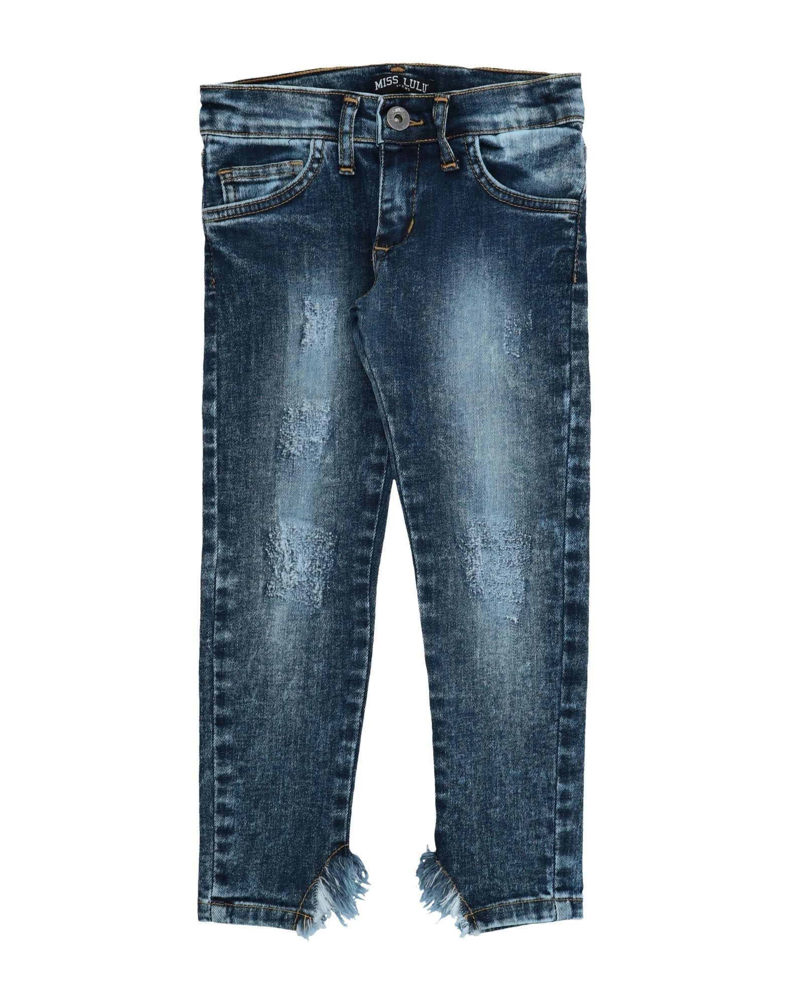 Miss Lulù Kids' Jeans In Blue