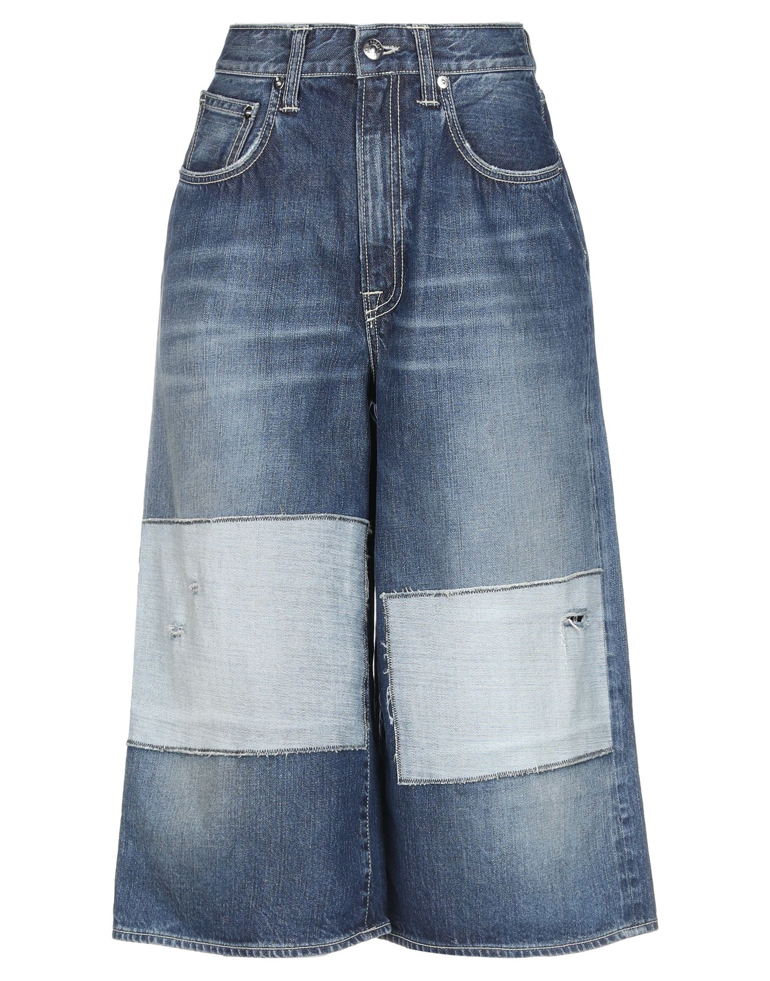 (+) PEOPLE Джинсовые брюки-капри все цены